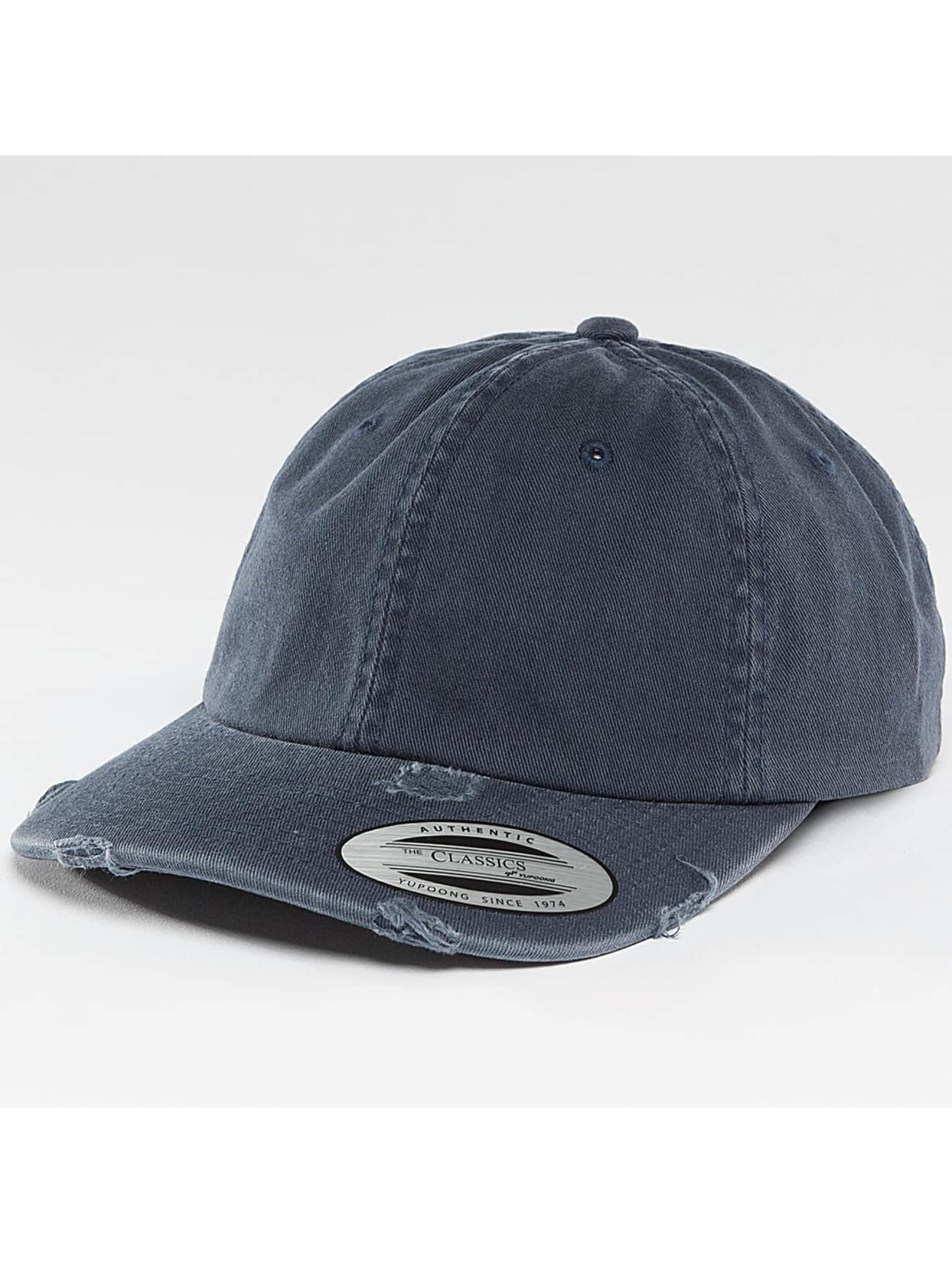 Flexfit Snapback Cap Low Profile Destroyed blue