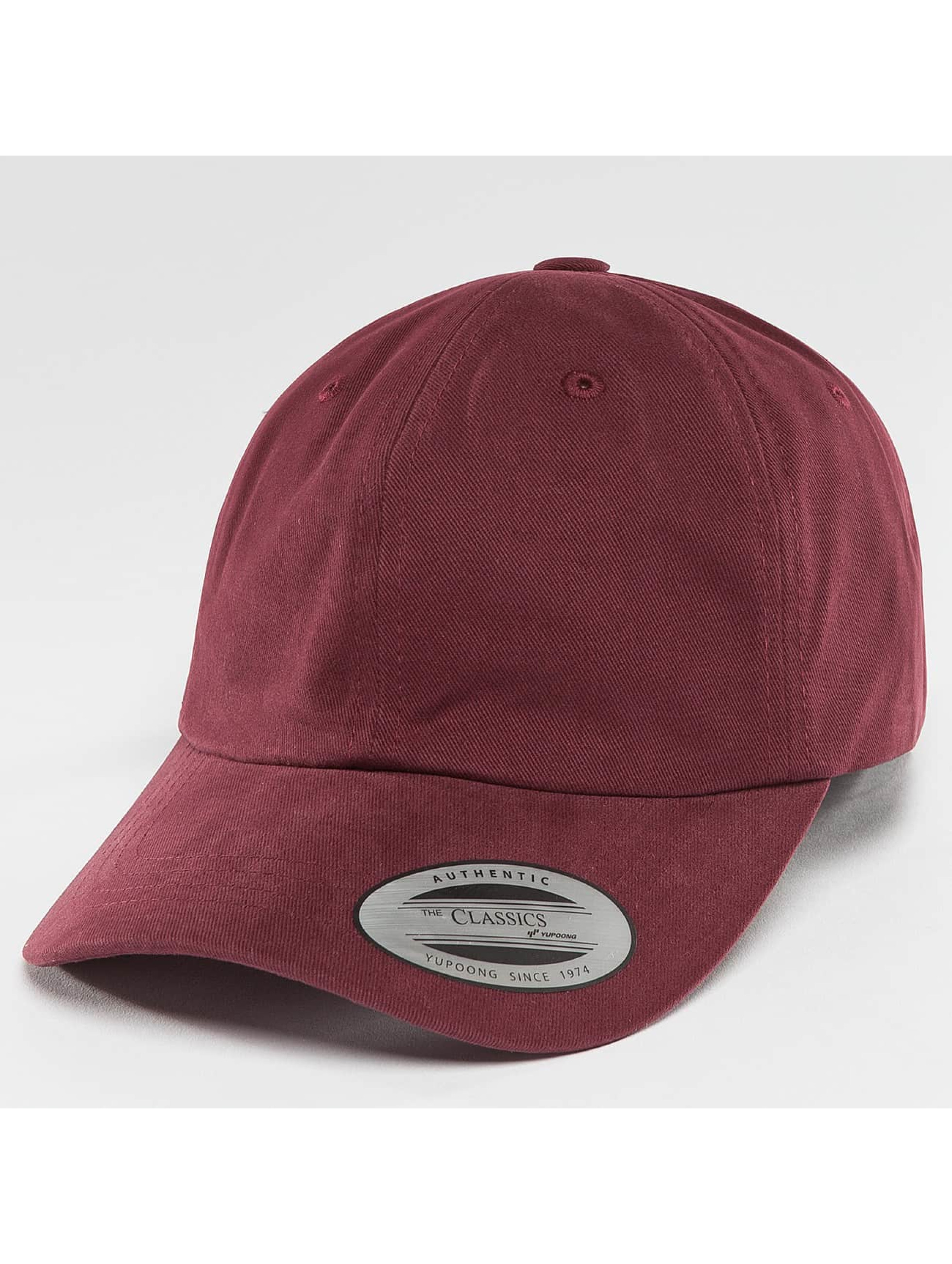 Flexfit Snapback Cap Peached Cotton Twill Dad red