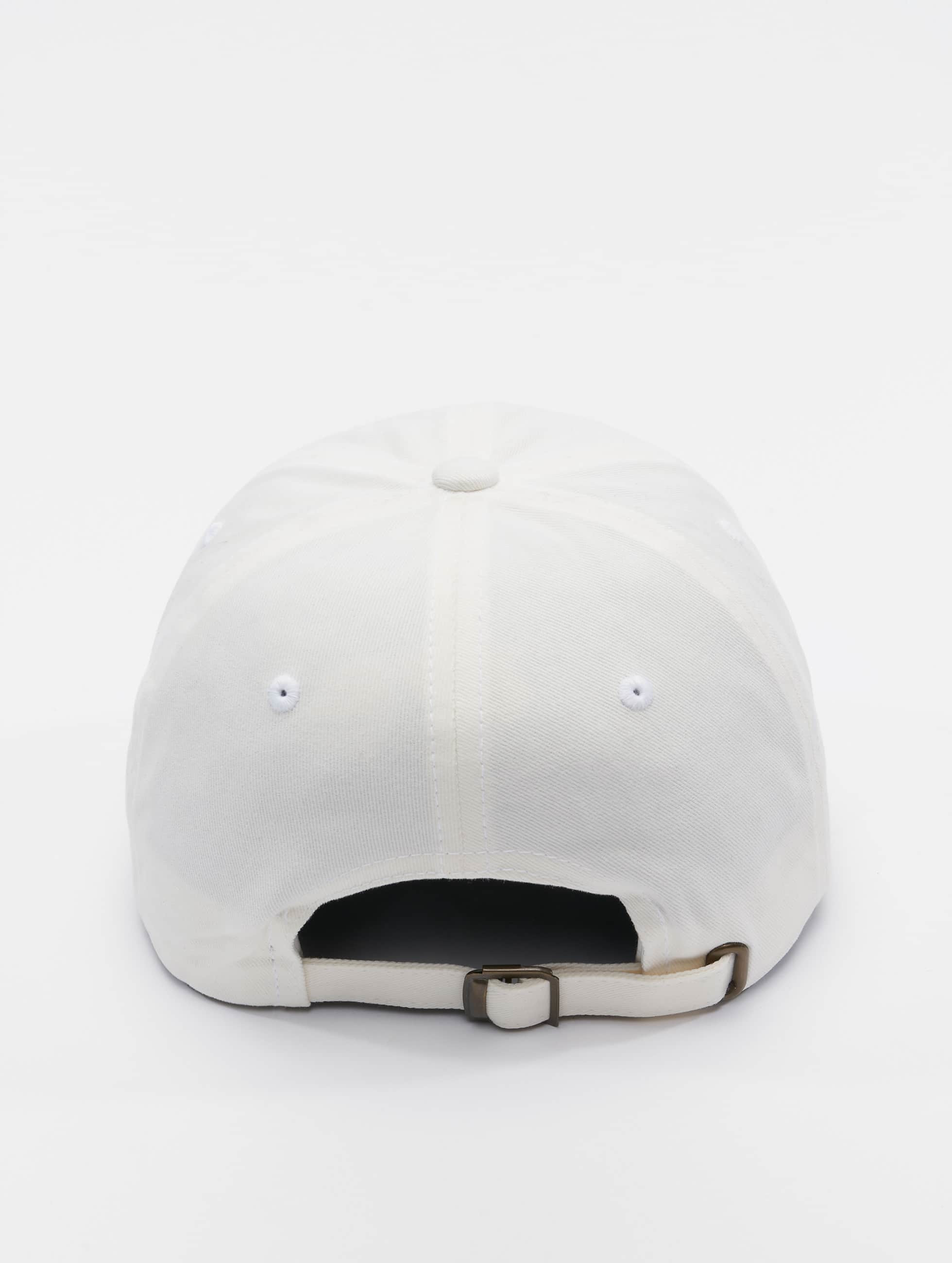 Flexfit Snapback Cap Peached Cotton Twill Dad white