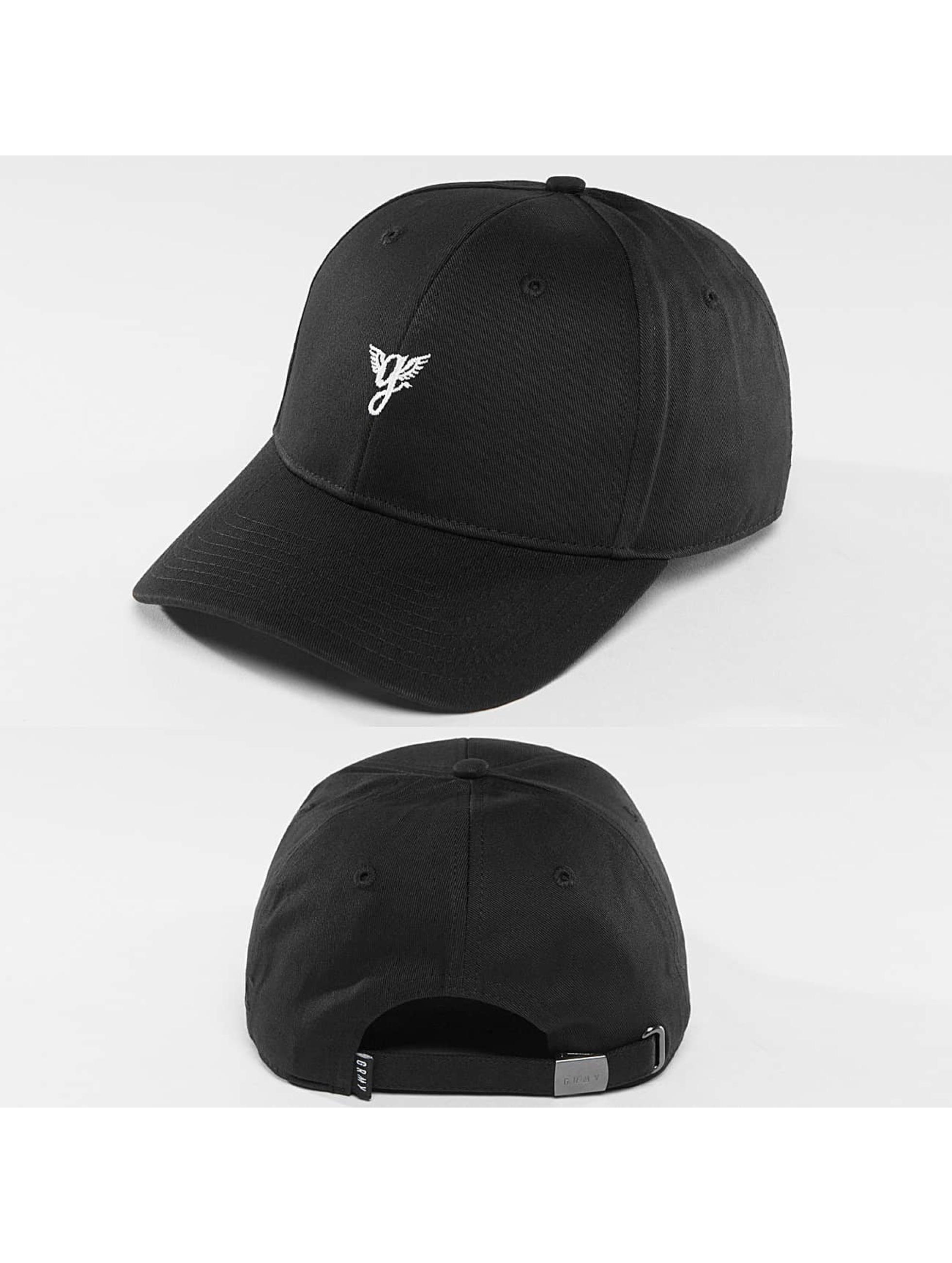 Grimey Wear Snapback Cap Heritage Curved Visor black