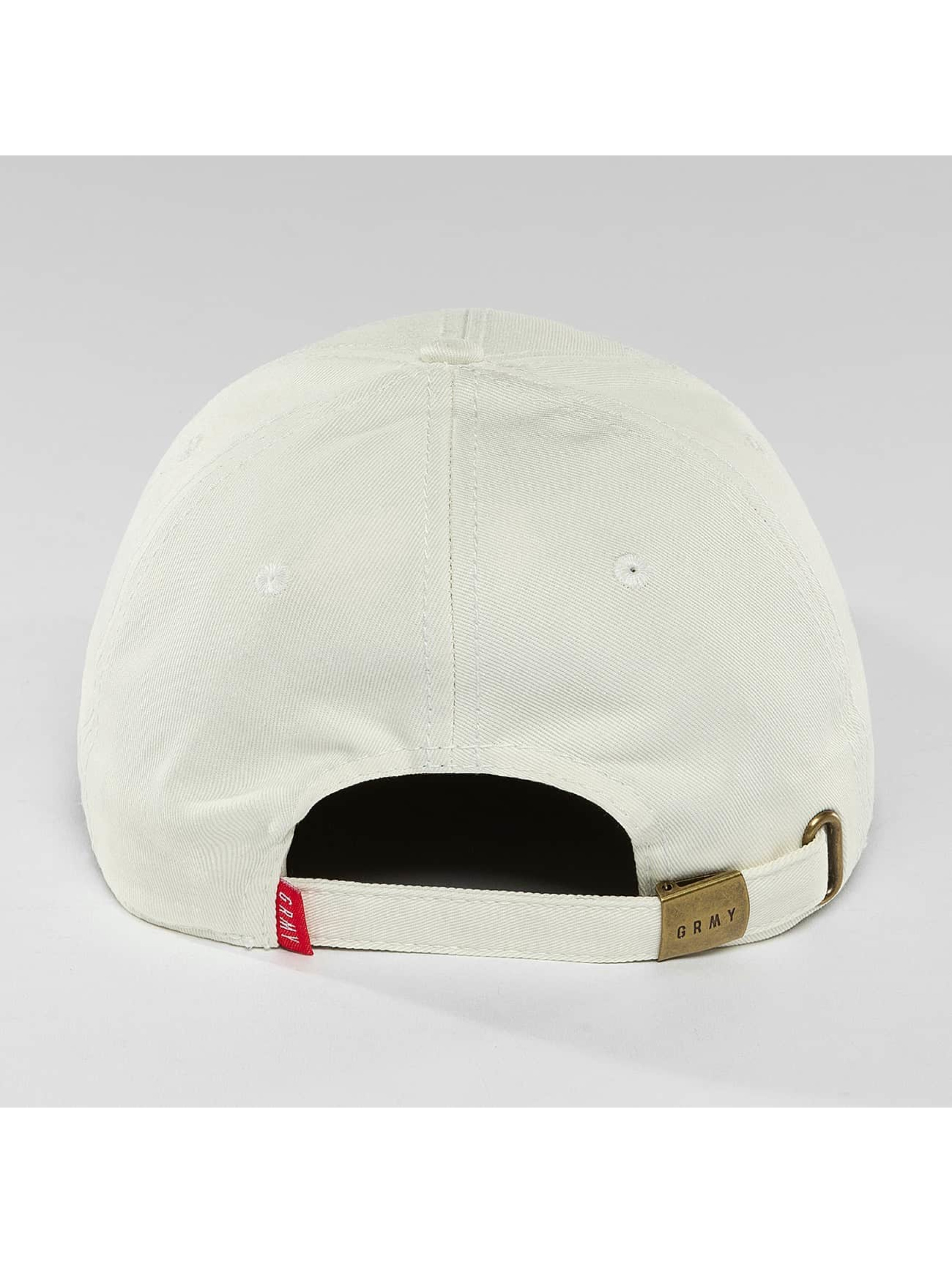 Grimey Wear Snapback Cap In Havana Curved Visor white