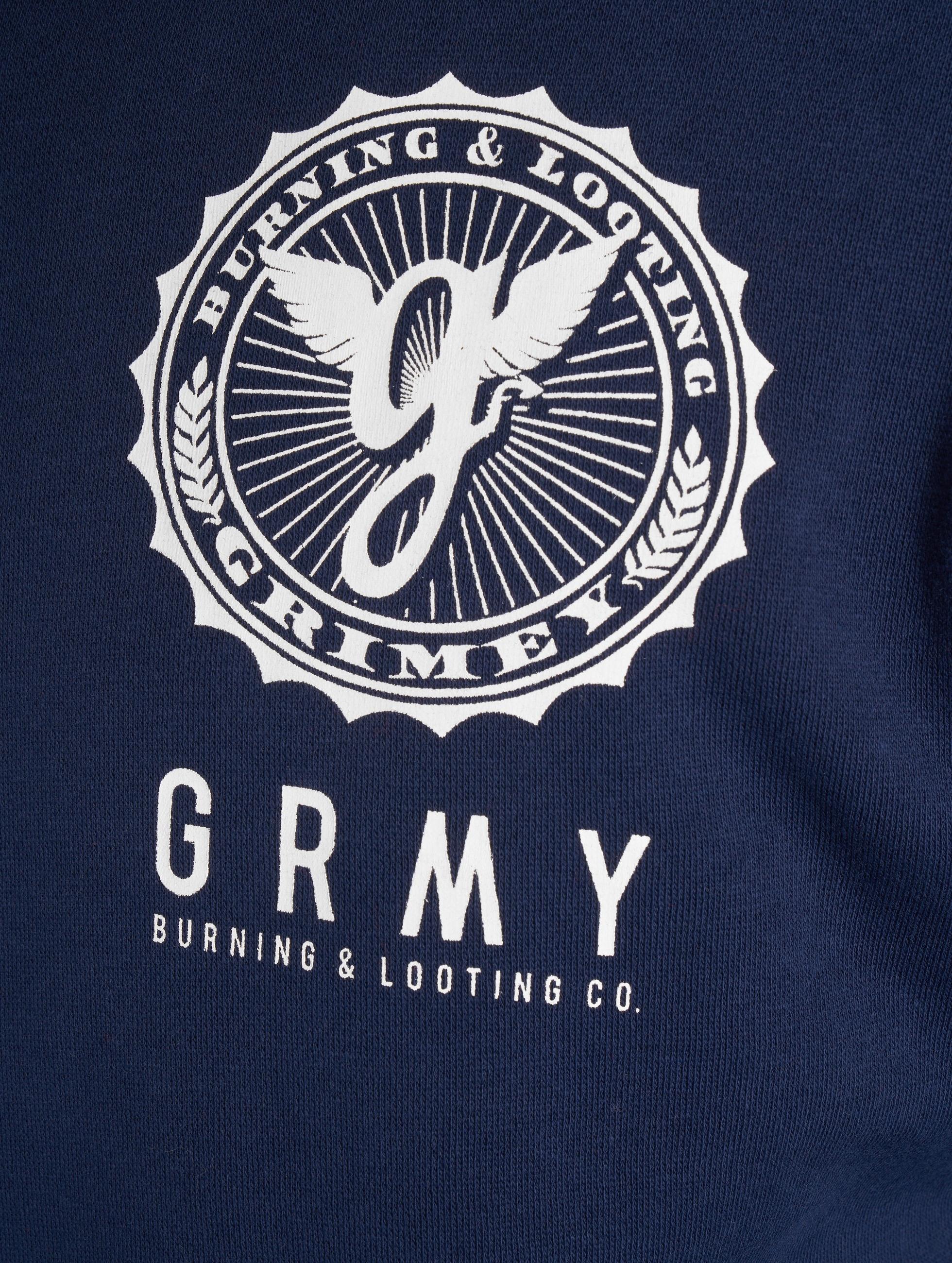 Grimey Wear Zip Hoodie Core blue