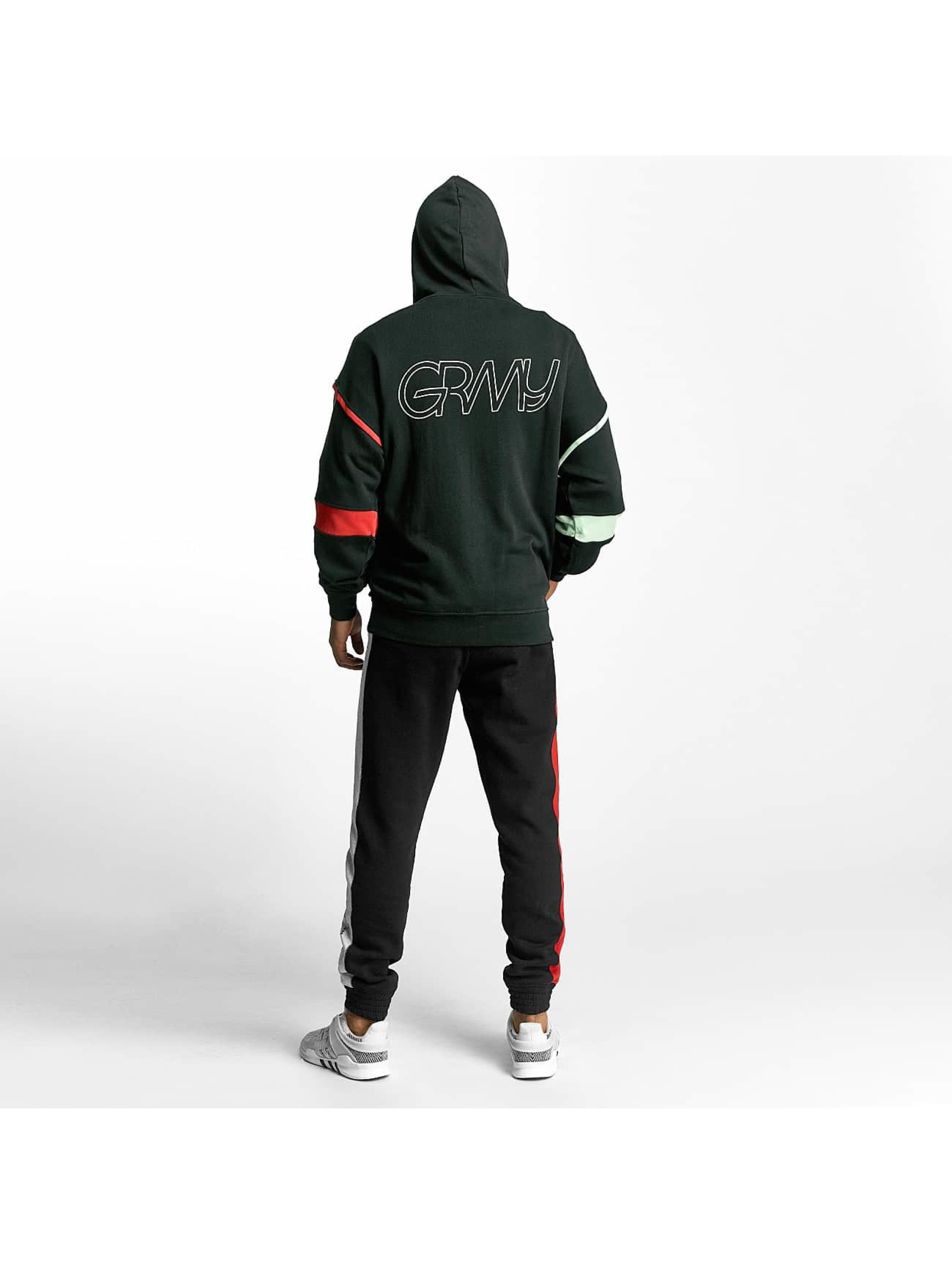 Grimey Wear Zip Hoodie Half Court Line green