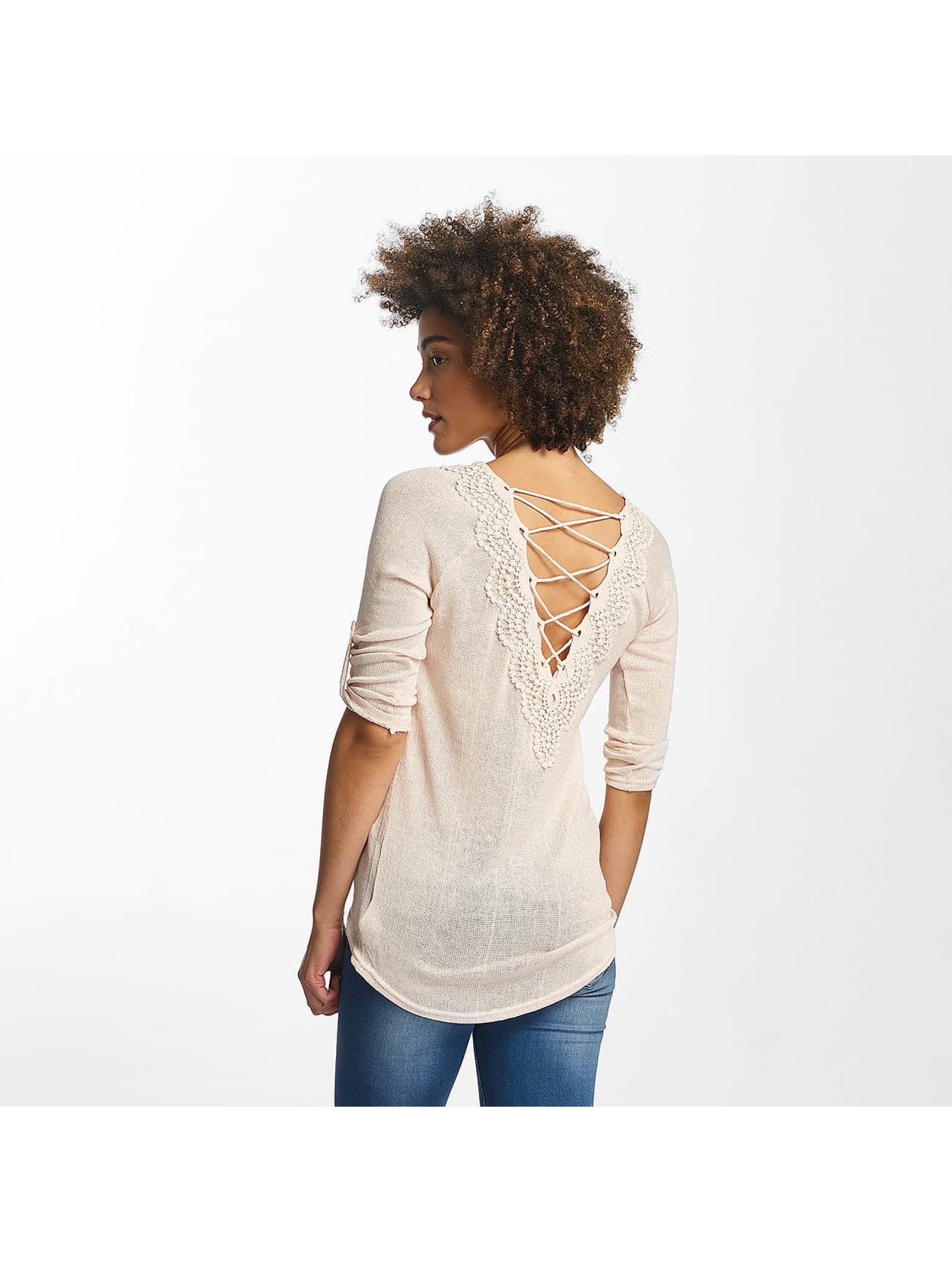 Hailys Longsleeve Annie 3/4 Lace-Up beige