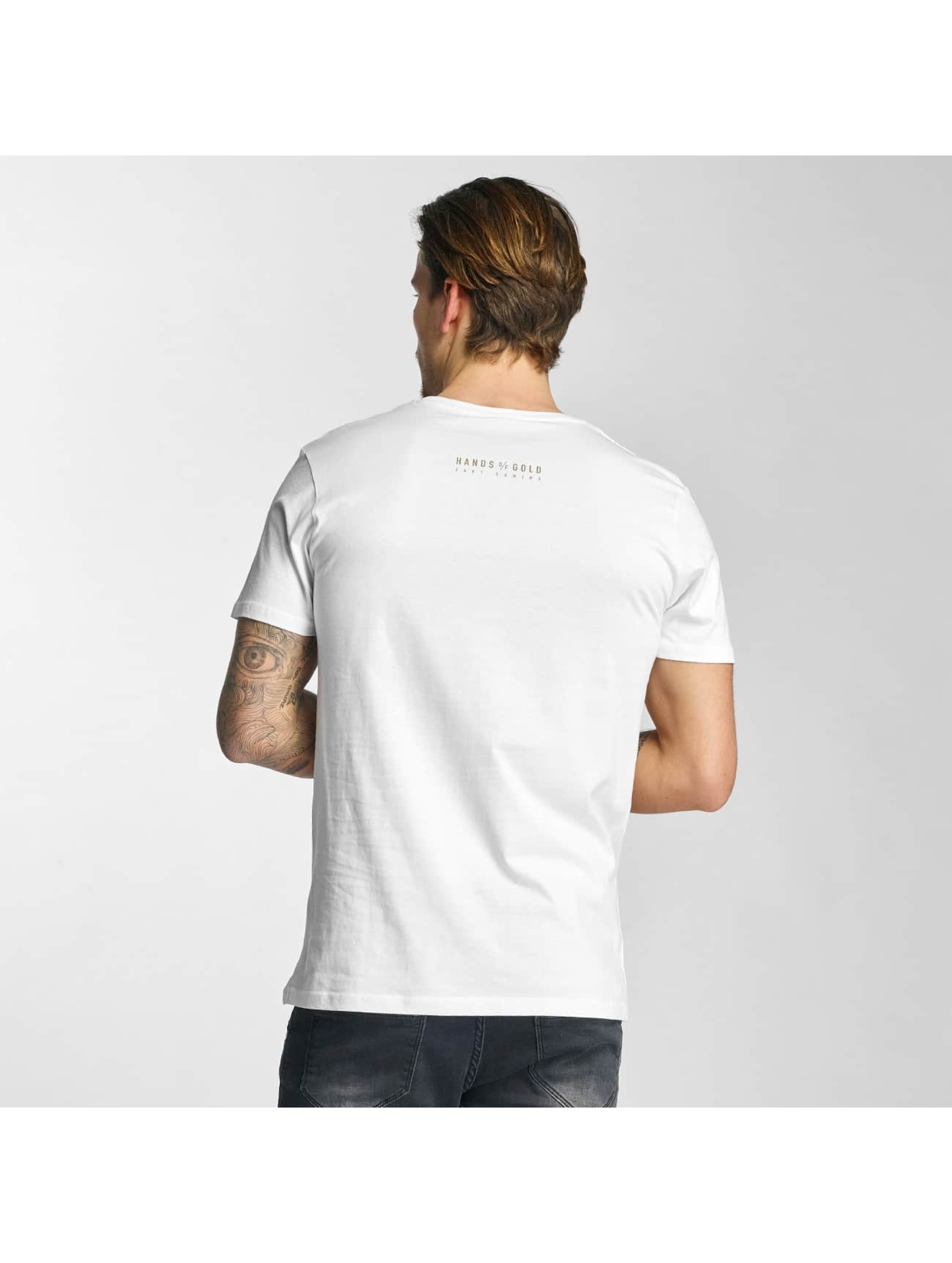 Hands of Gold T-Shirt Bros Before Hoes white