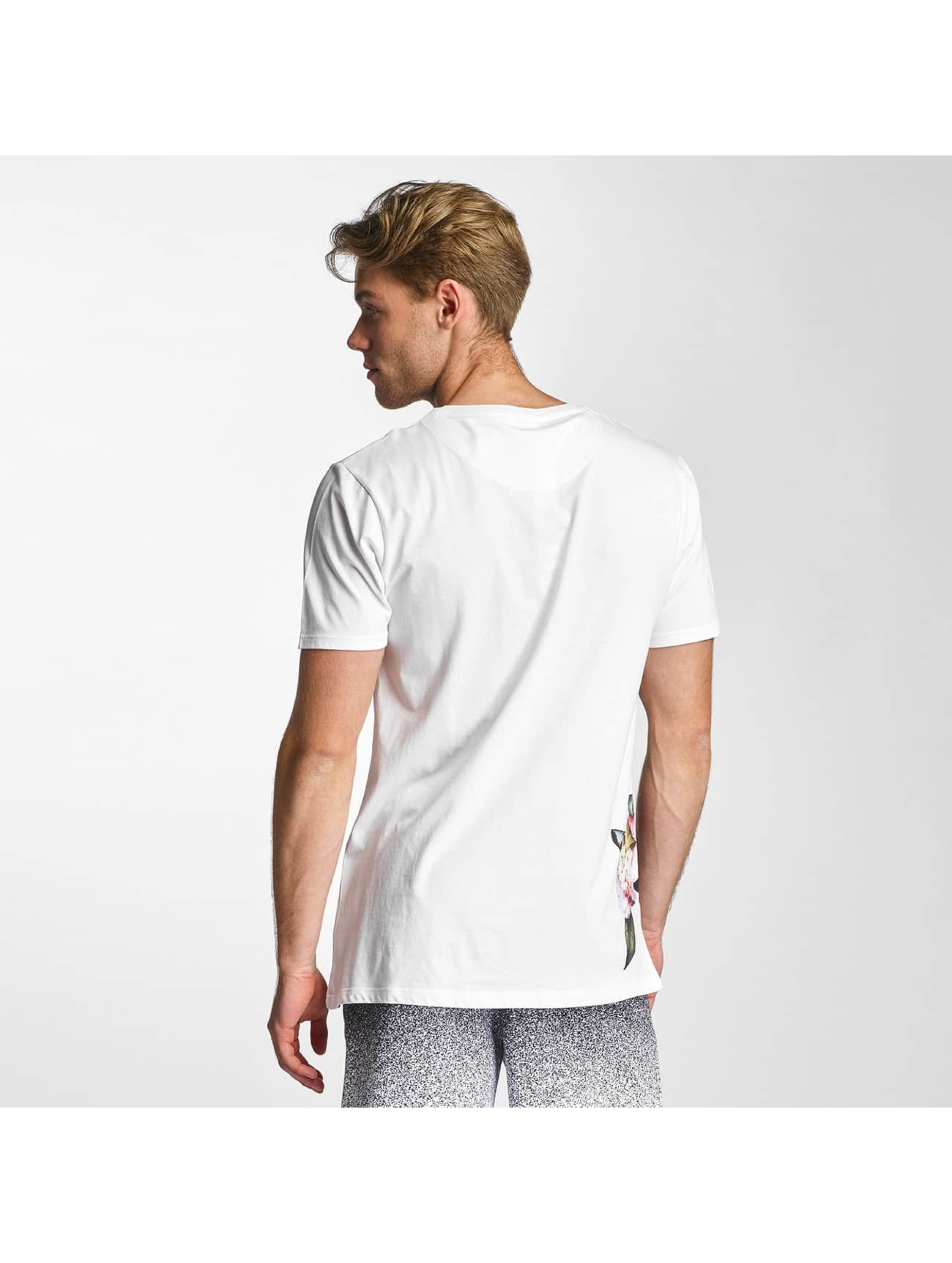 HYPE T-Shirt Floral Side white