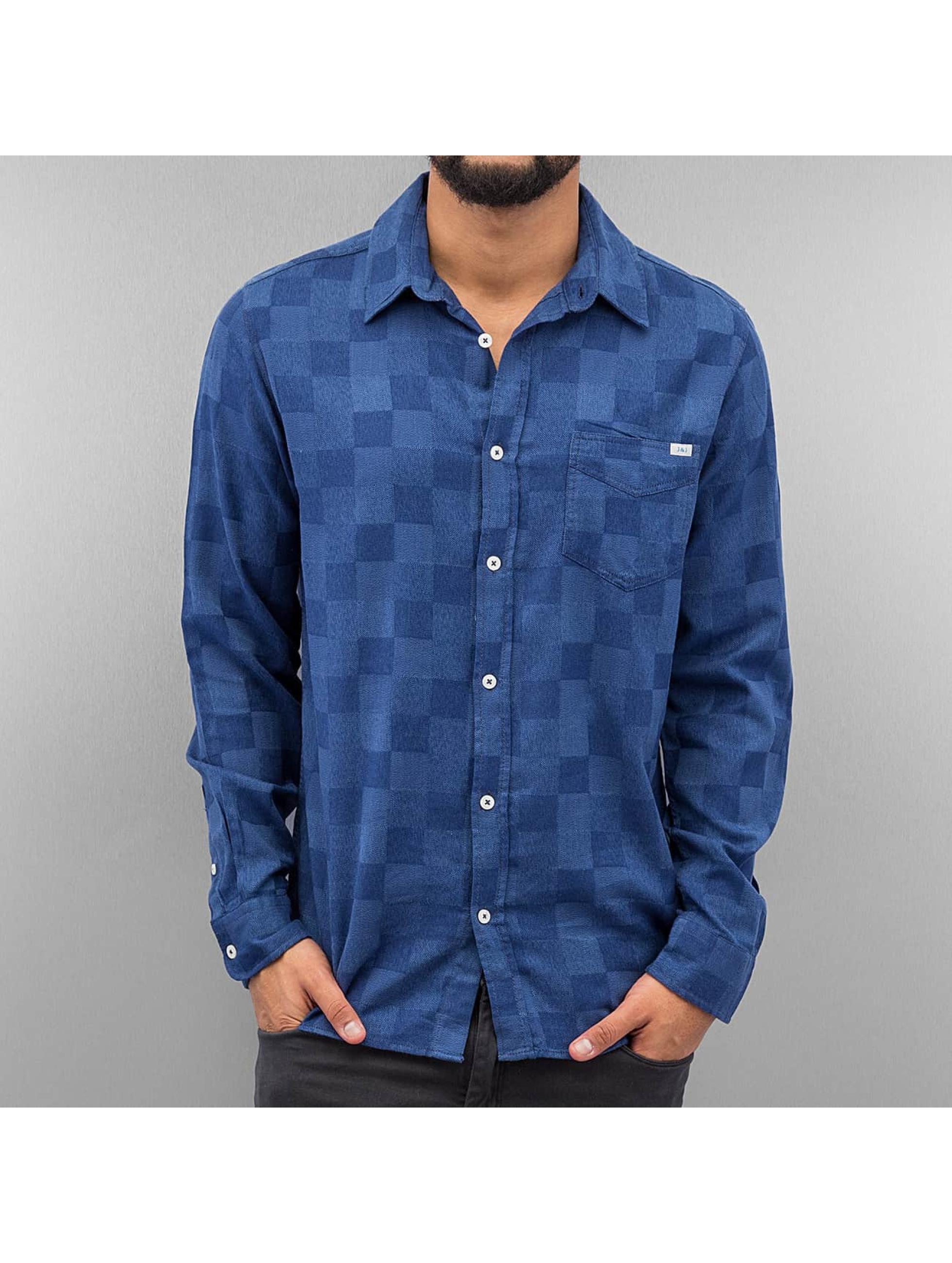 jack jones herren hemd jjleigh in blau 227299. Black Bedroom Furniture Sets. Home Design Ideas
