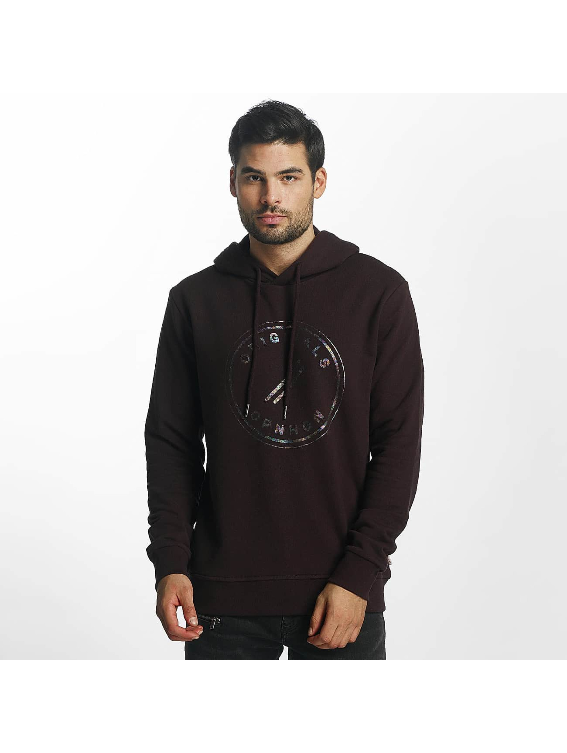 Jack & Jones Hoodie jorHologram red