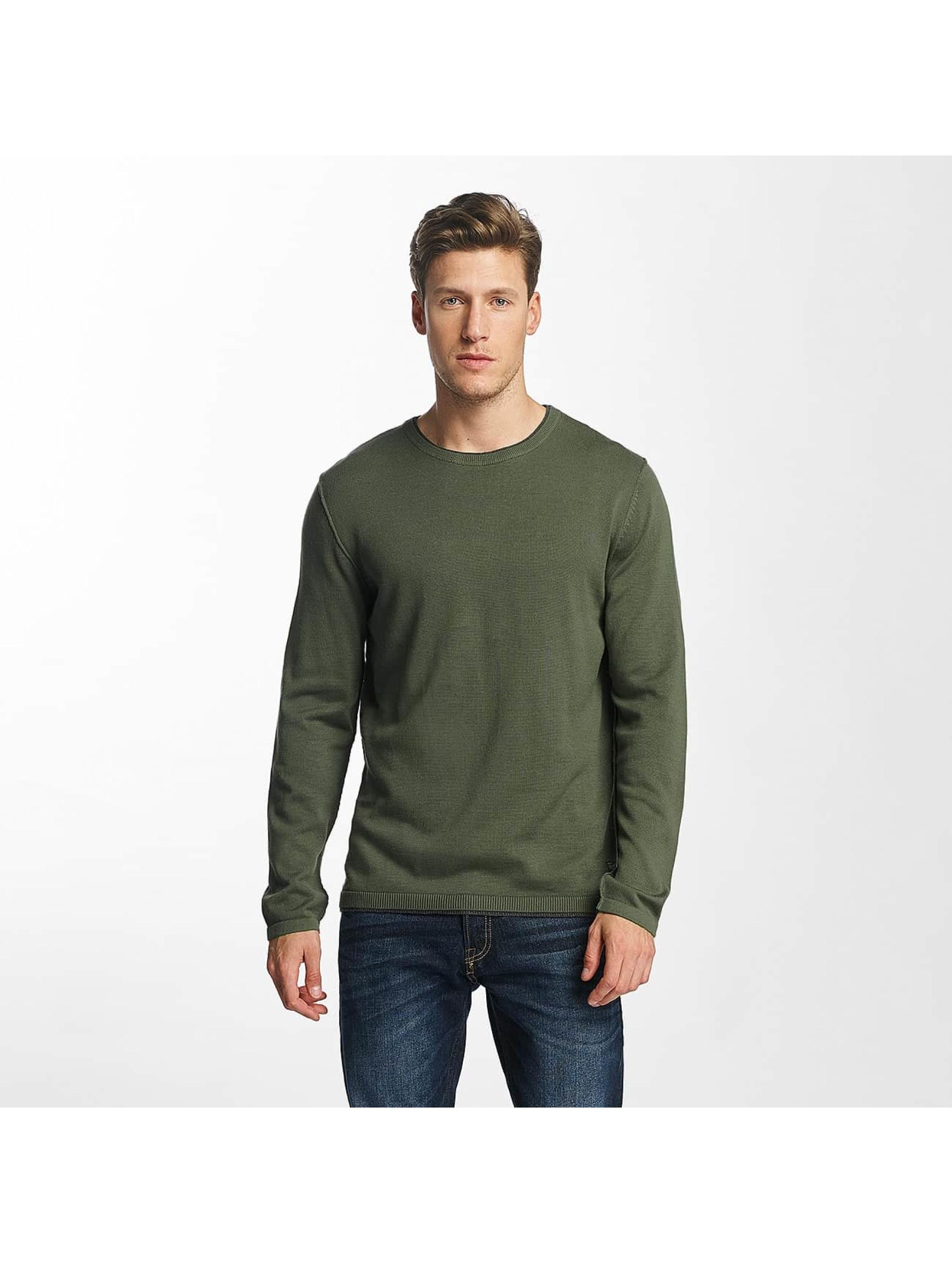 jack jones herren pullover joreasy knit in olive 341554. Black Bedroom Furniture Sets. Home Design Ideas