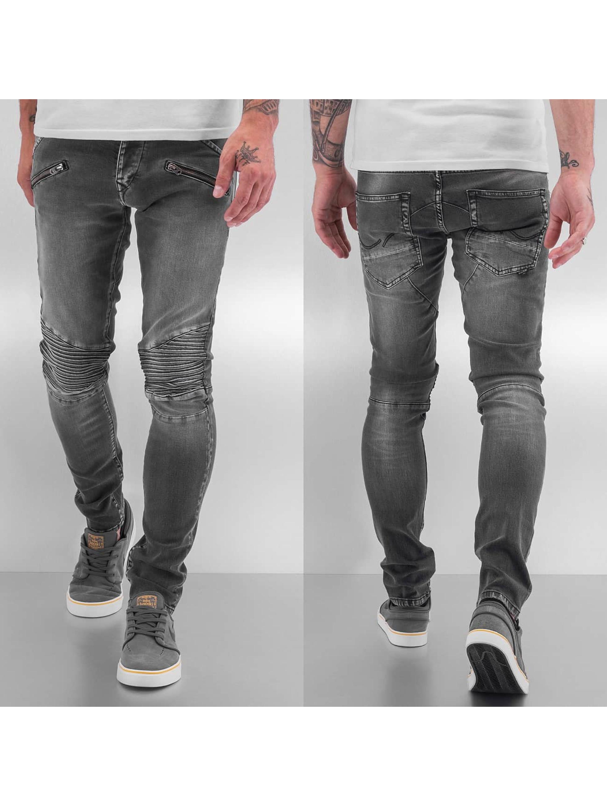 jack jones jeans straight fit jeans glenn in grijs 187767. Black Bedroom Furniture Sets. Home Design Ideas