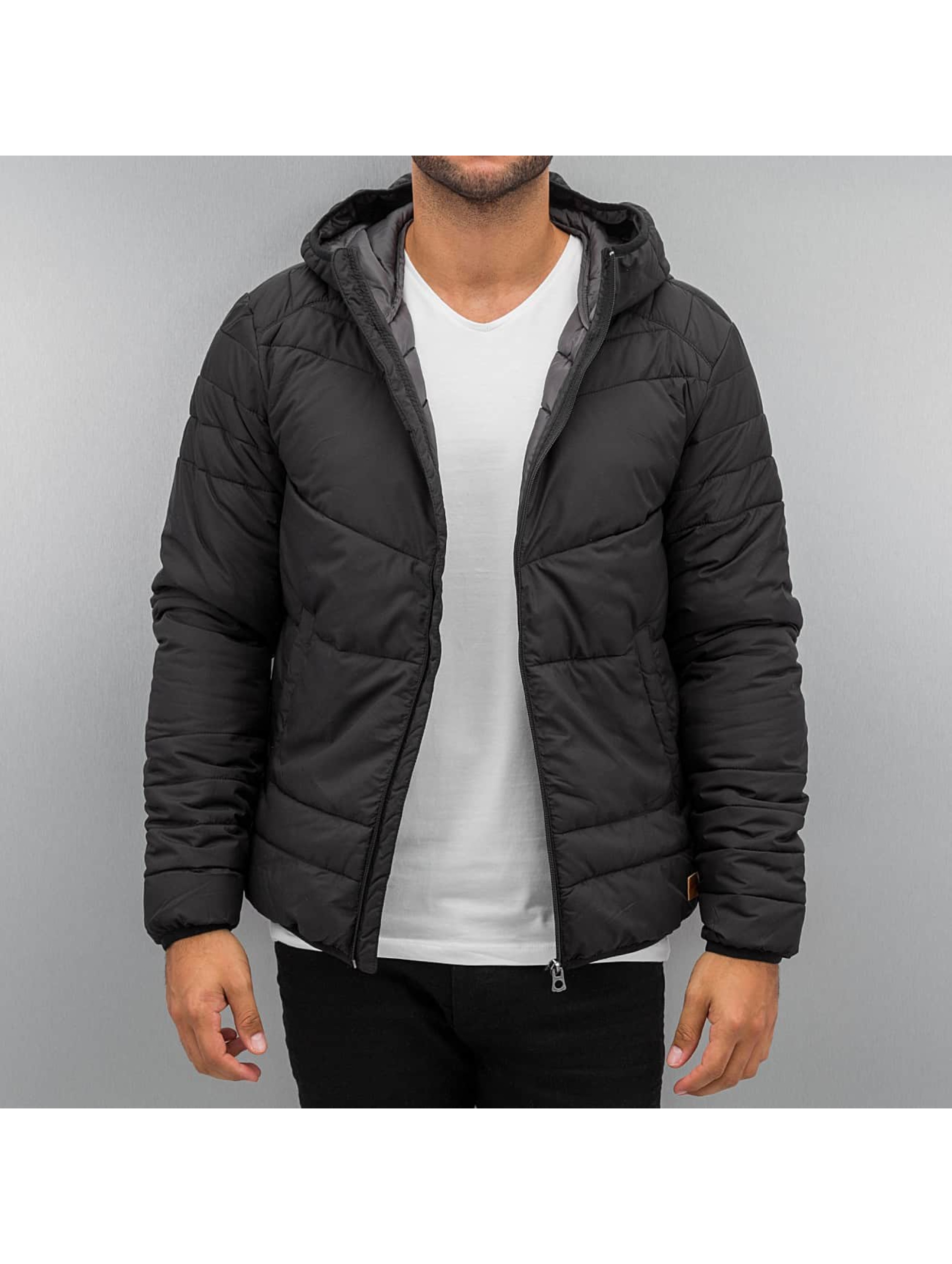 jack jones herren winterjacke jorbomb puffer in schwarz. Black Bedroom Furniture Sets. Home Design Ideas