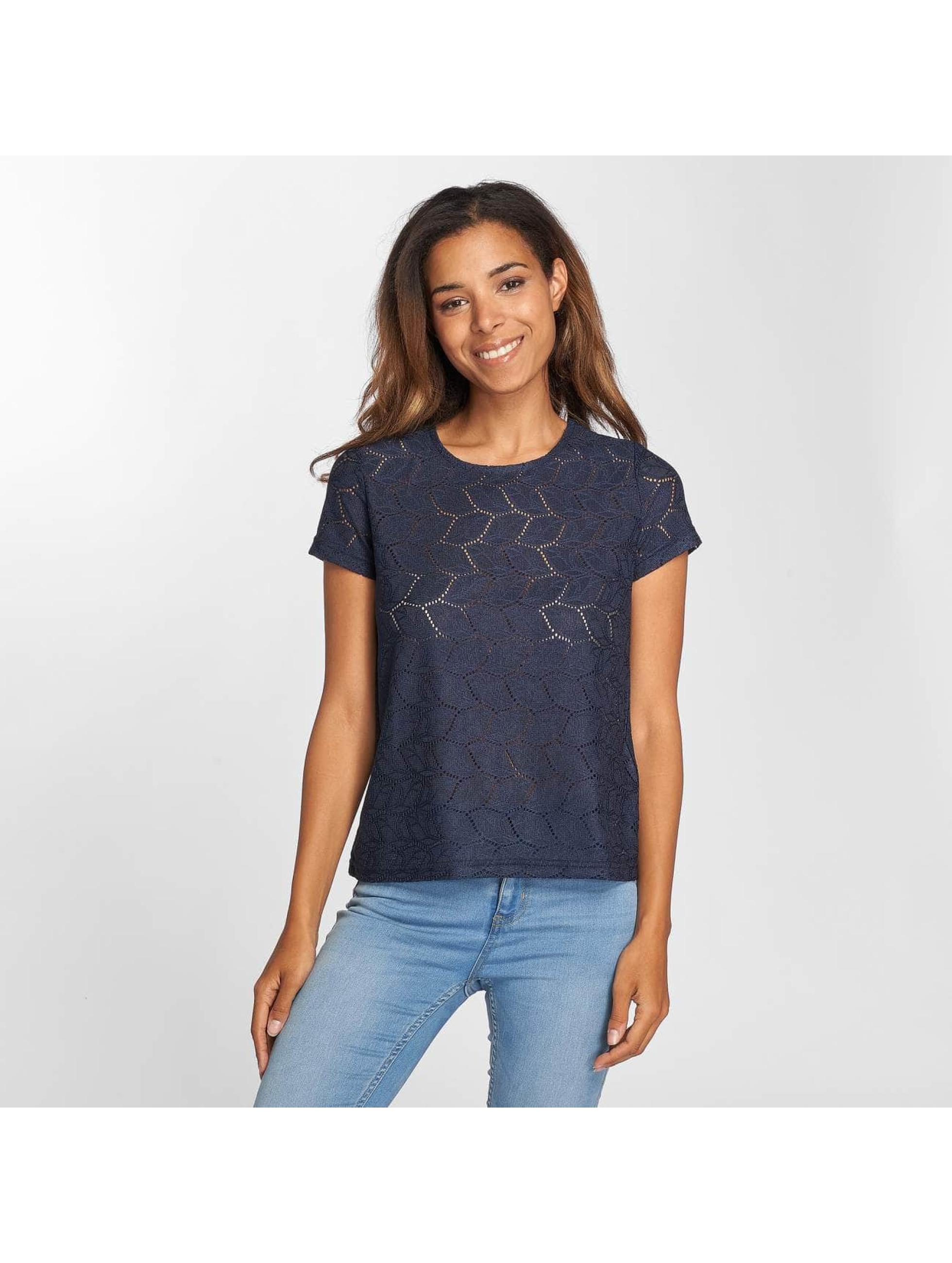 4f3ad695c058 JACQUELINE de YONG Damen T-Shirt jdyTag Lace in blau 434361