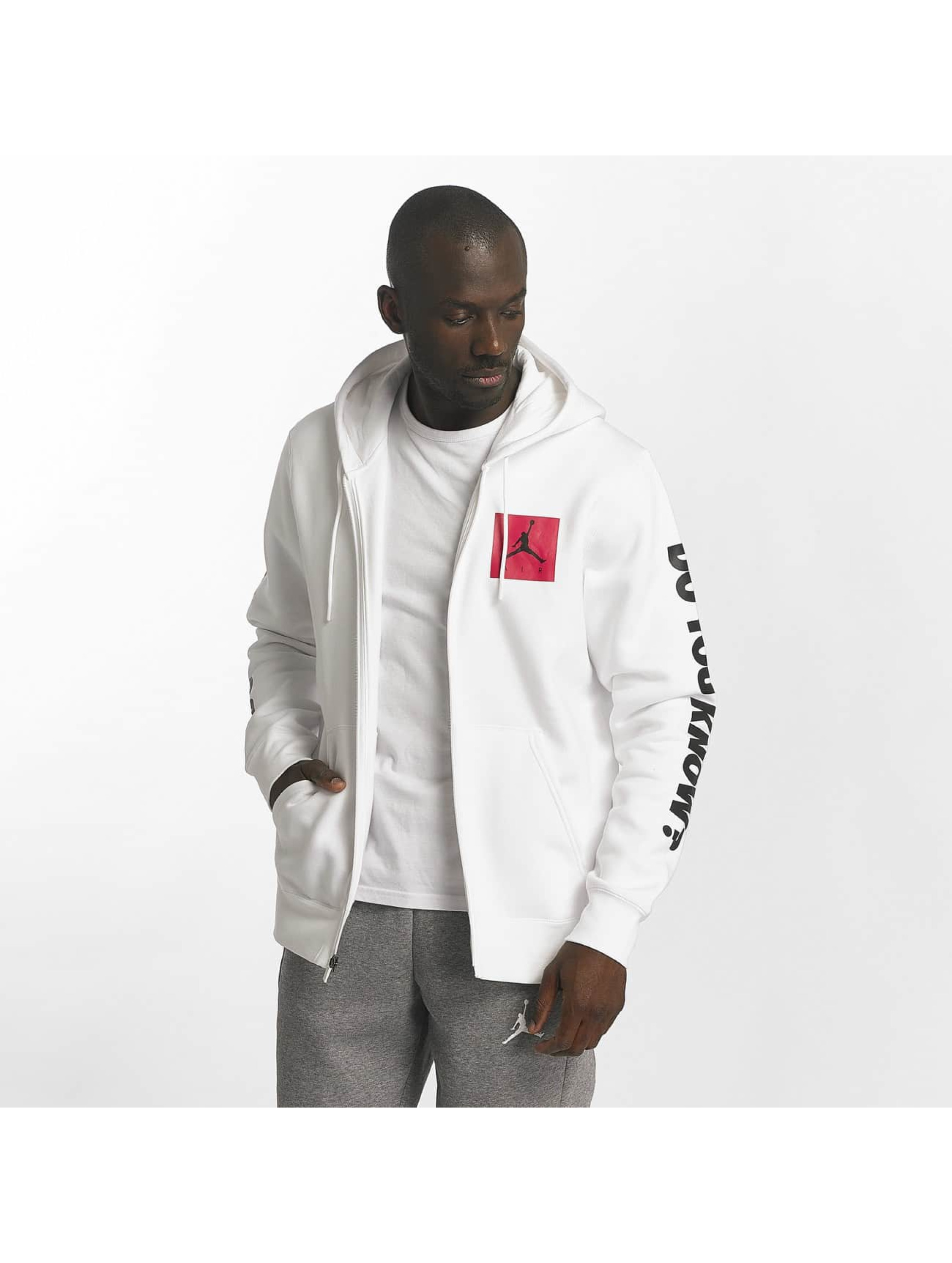 half off a68da b5159 Jordan Sportswear AJ 3 Flight Fleece Zip Hoody White/University Red/Black