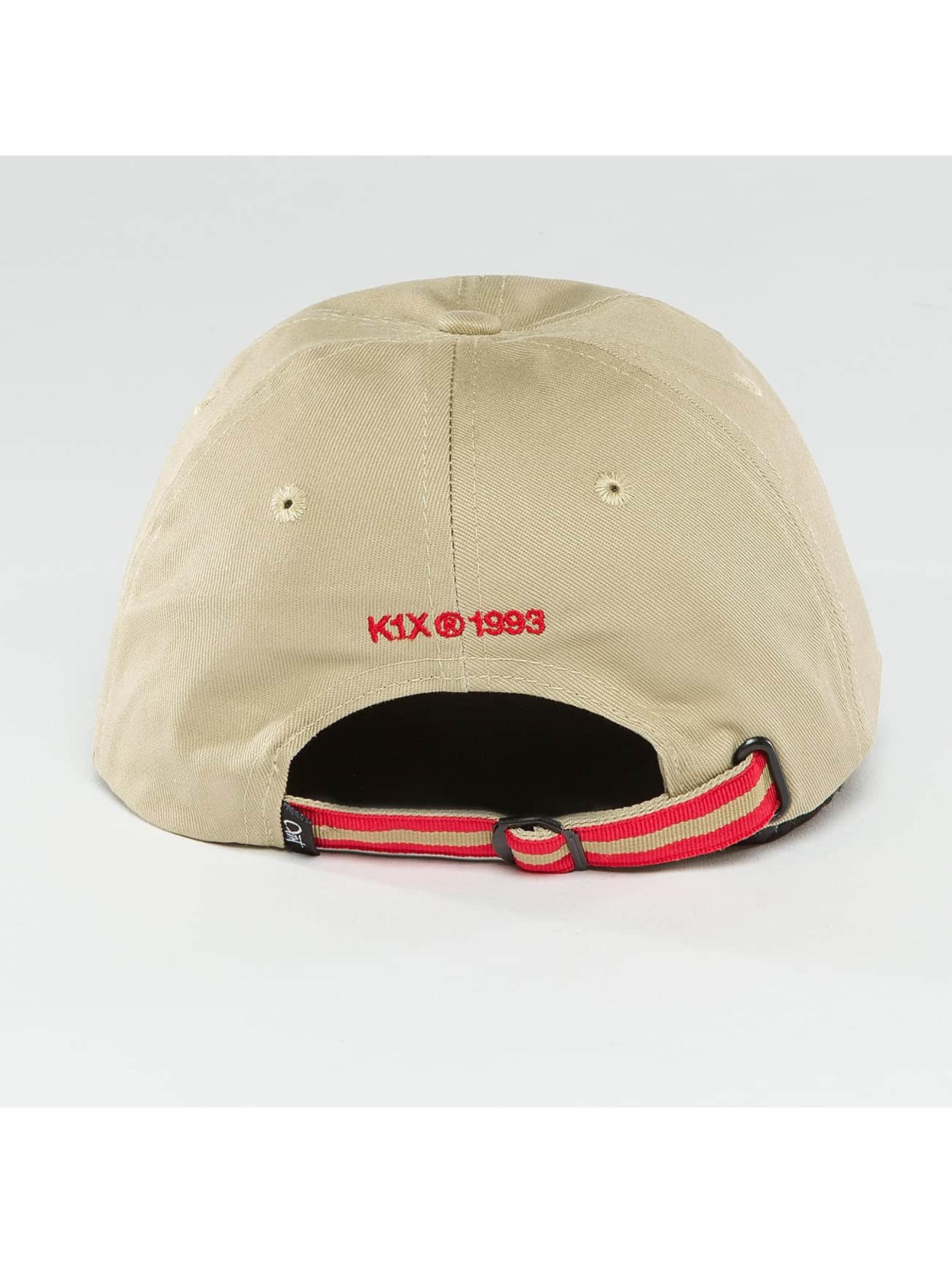 K1X Snapback Cap Play Hard Basketball Sports khaki