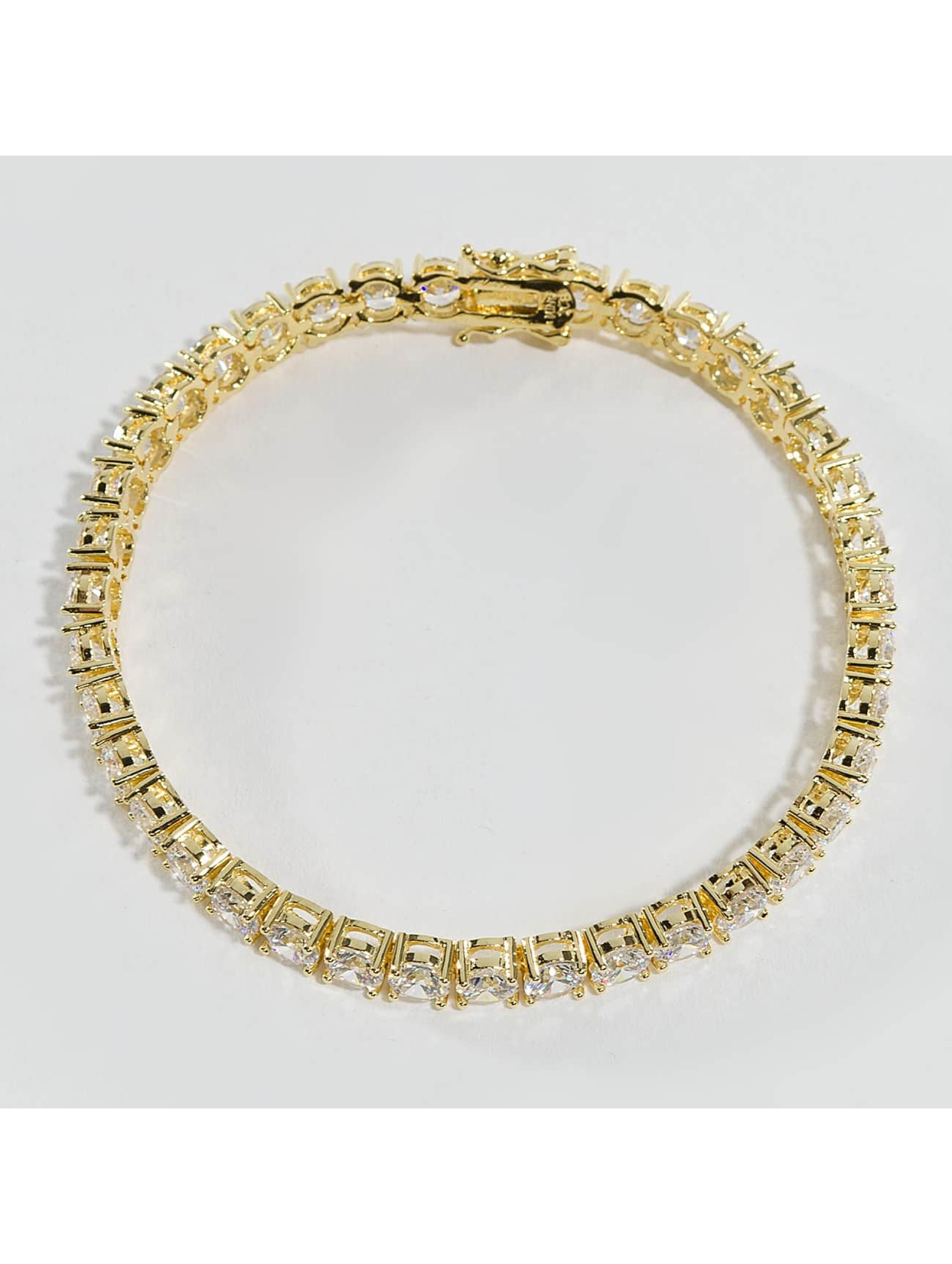 KING ICE Bracelet Gold_Plated 5mm Single Row gold