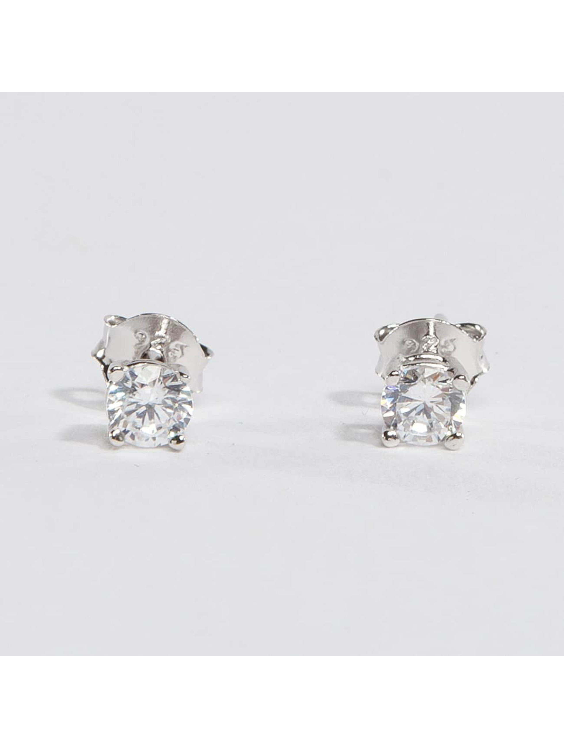 KING ICE Earring Rhodium_Plated 4mm 925 Sterling_Silver CZ silver