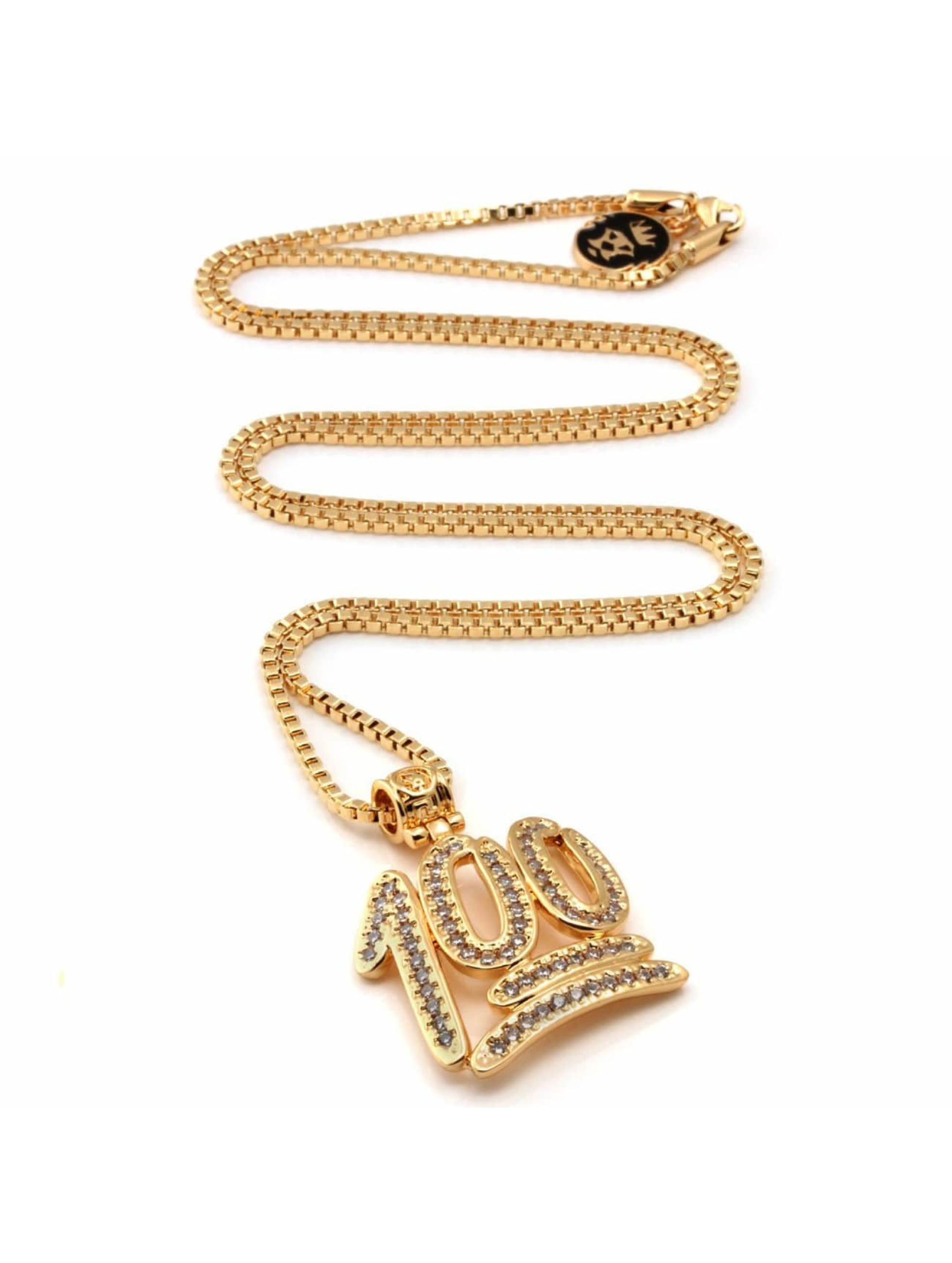 KING ICE Necklace 100 Points Emoji gold