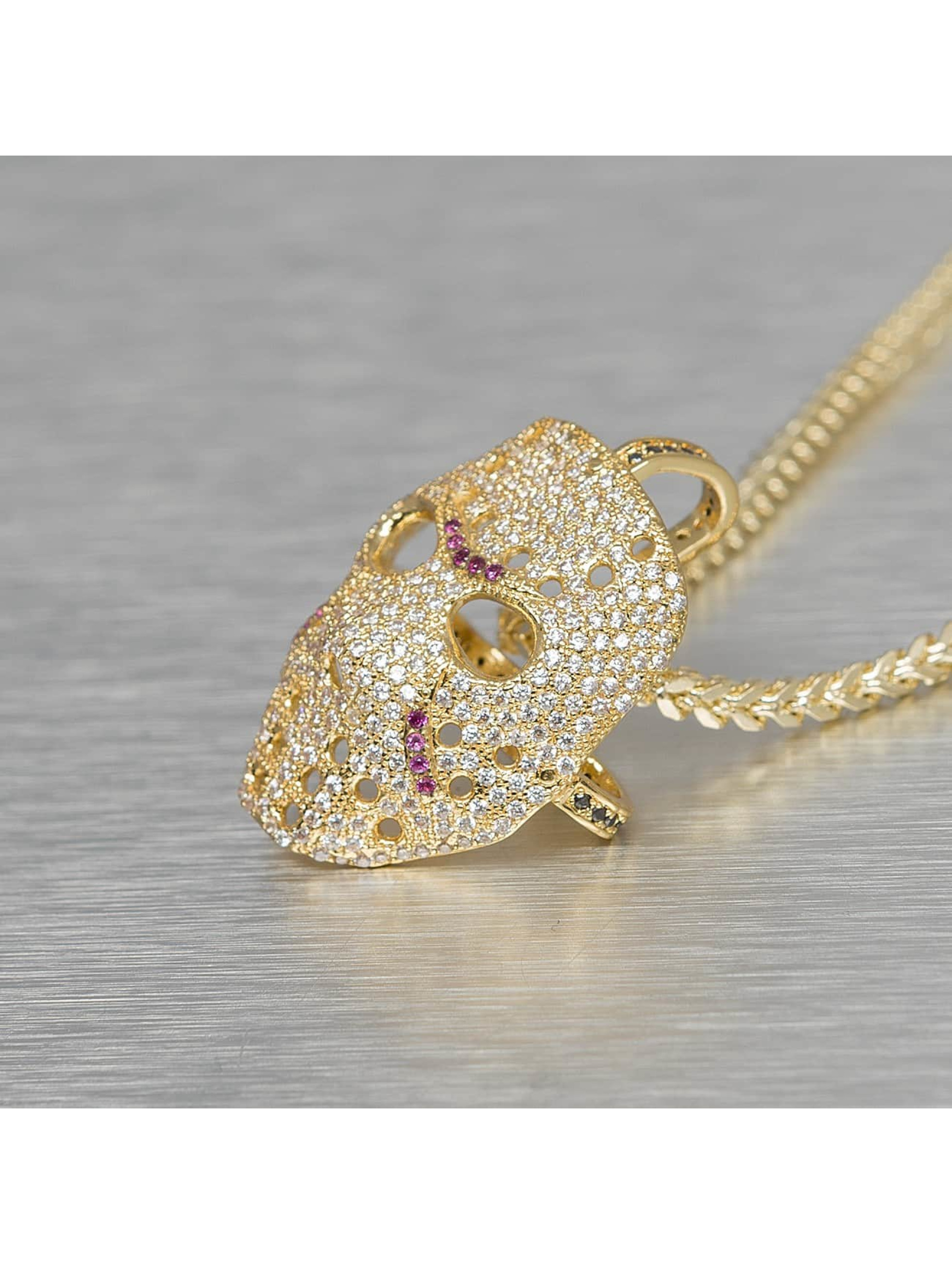 KING ICE Necklace Small Hockey Mask gold