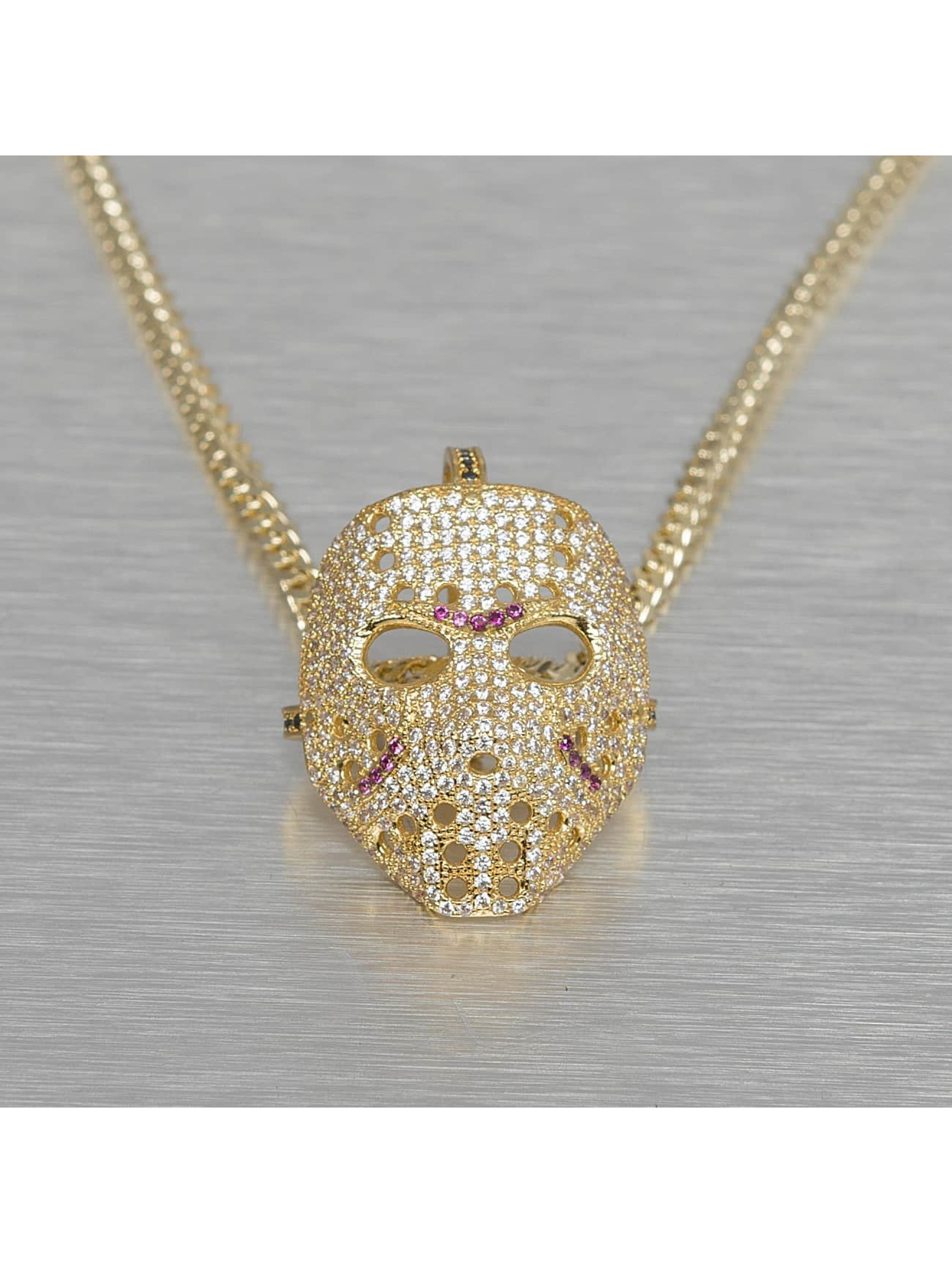 KING ICE Necklace Large Hockey Mask gold