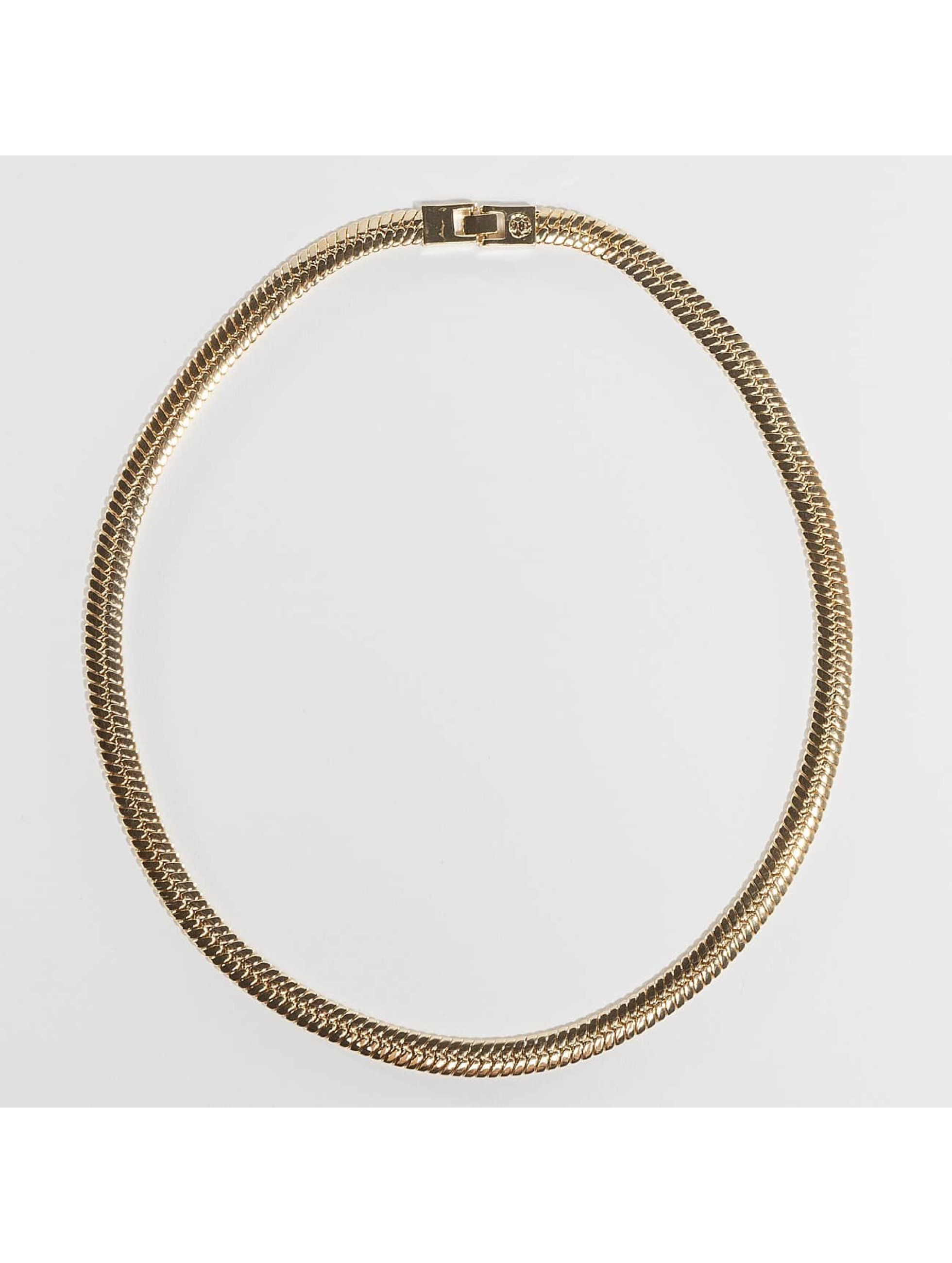 KING ICE Necklace Gold_Plated 10mm Thick Herringbone gold