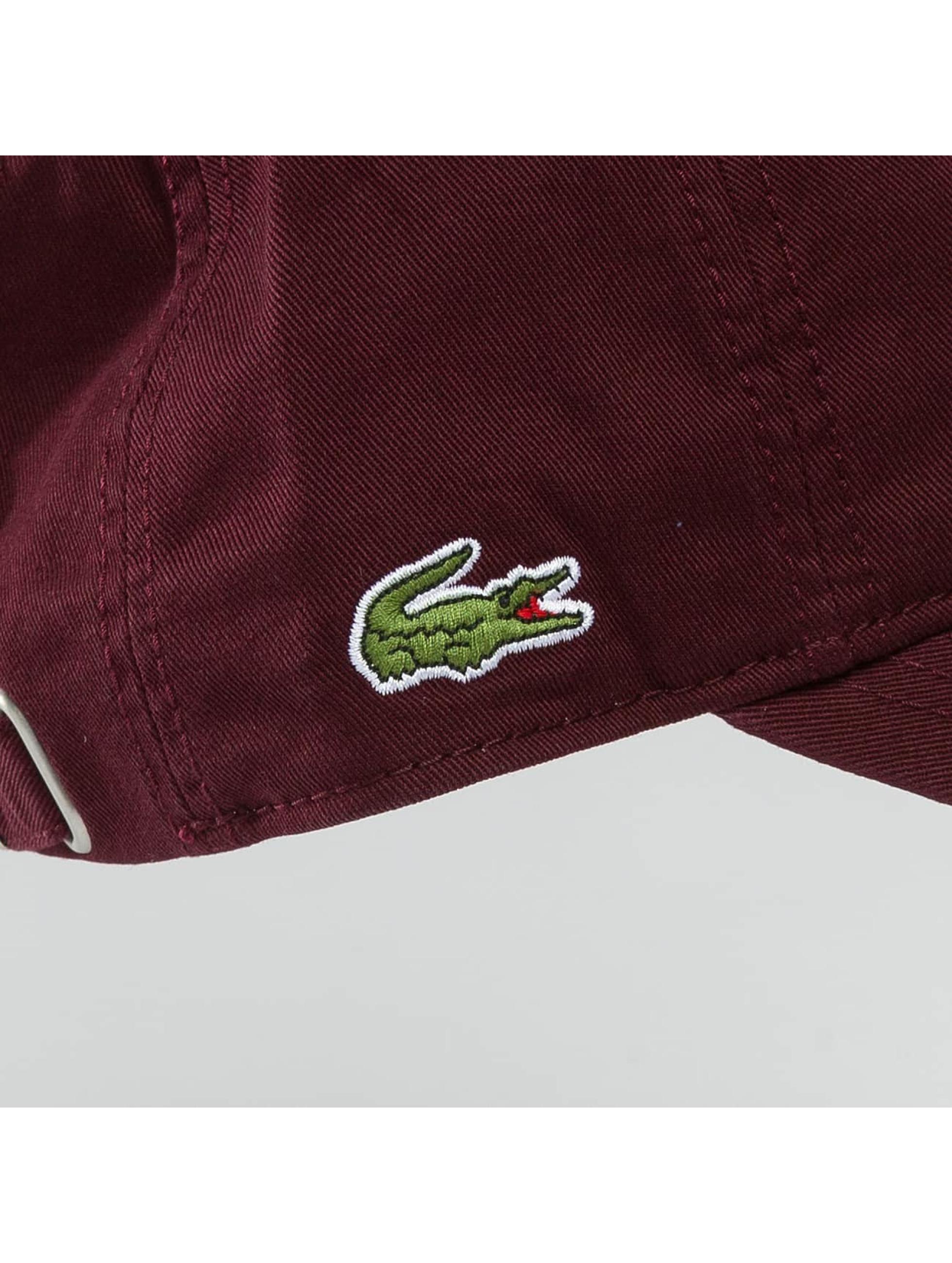 Lacoste Snapback Cap Gabardine Croc purple