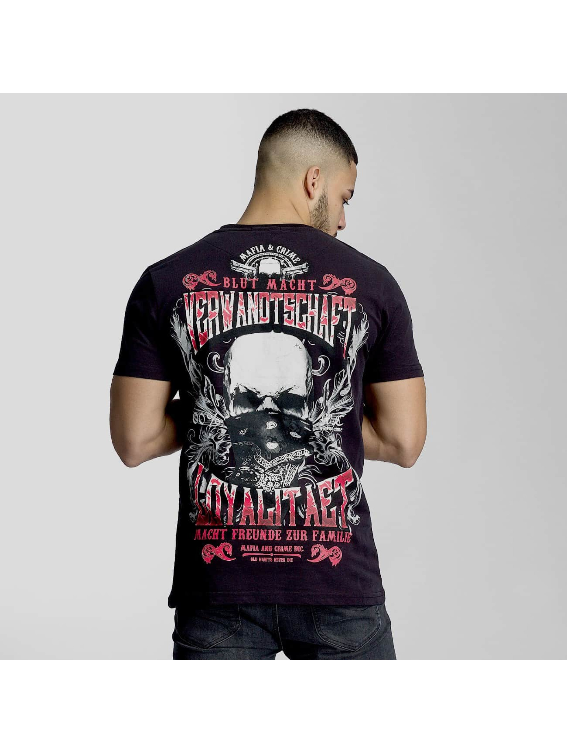 Mafia & Crime T-Shirt Familie black