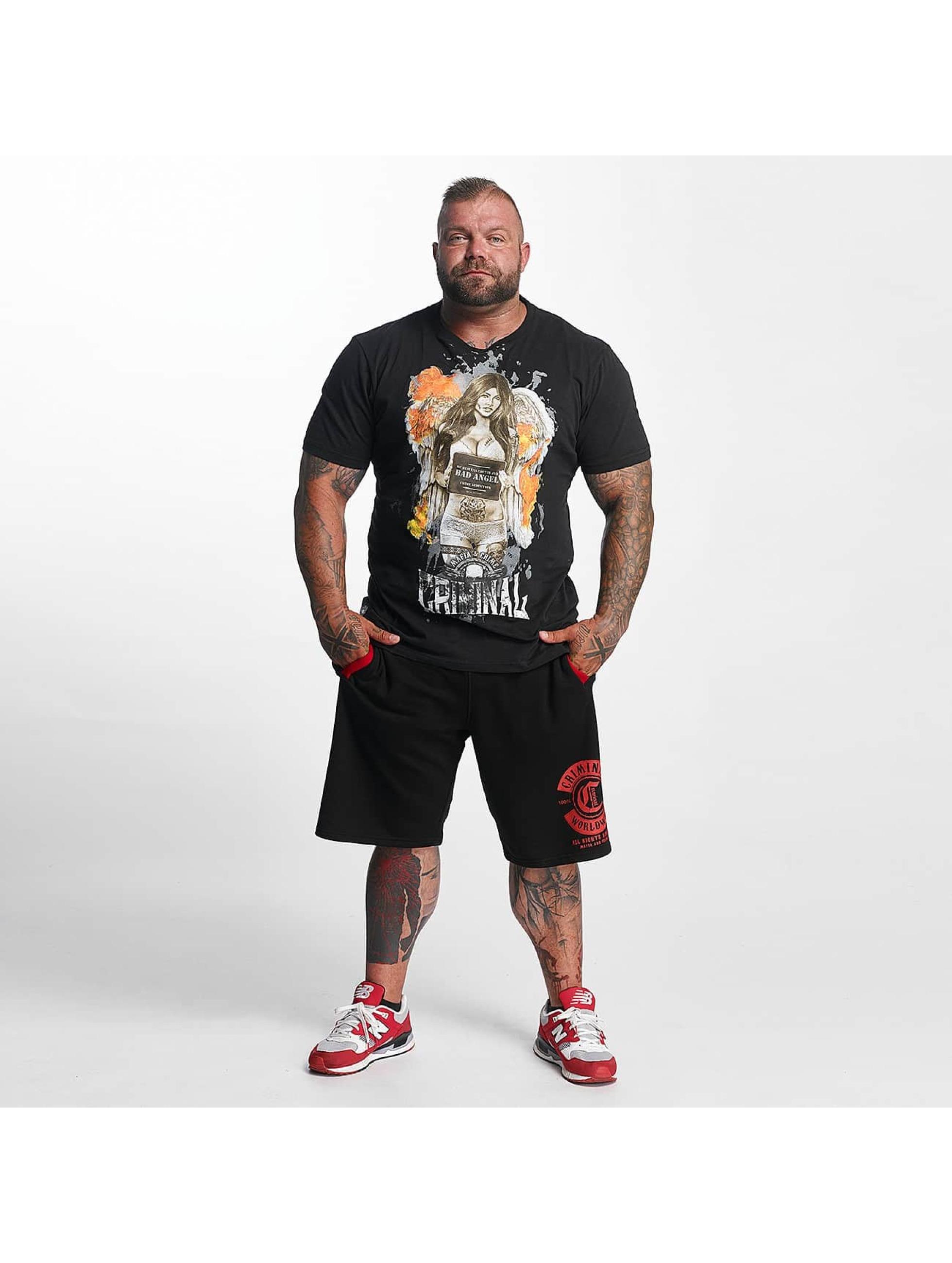 Mafia & Crime T-Shirt Bad Angel Crime Seduction black