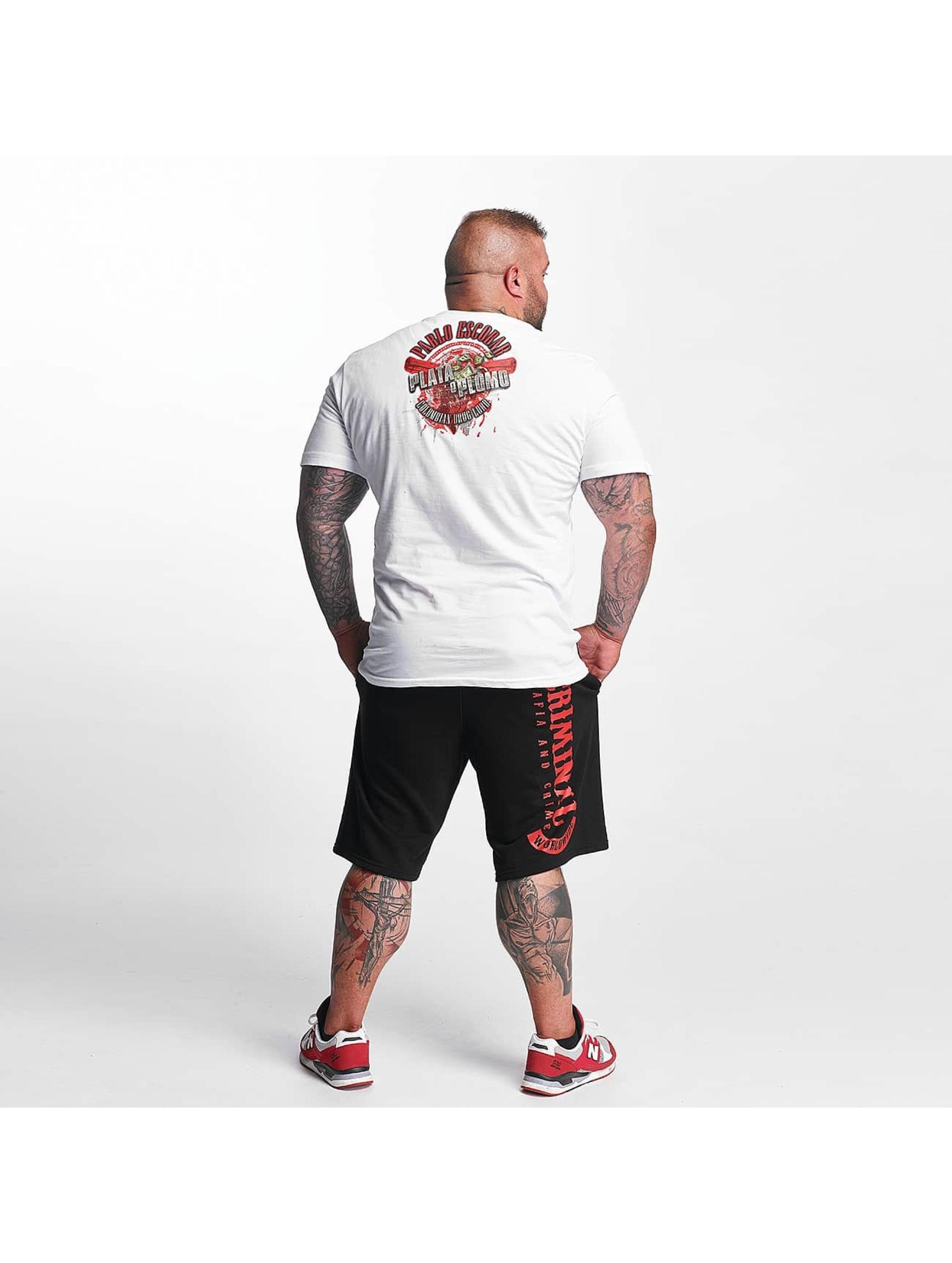 Mafia & Crime T-Shirt Plata o Plomo white
