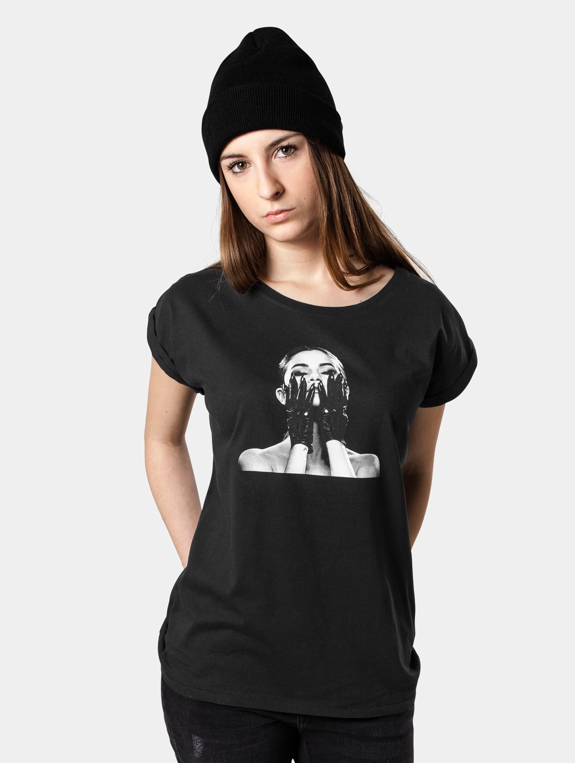Merchcode T-Shirt Ladies Selena Gomez Black Gloves black