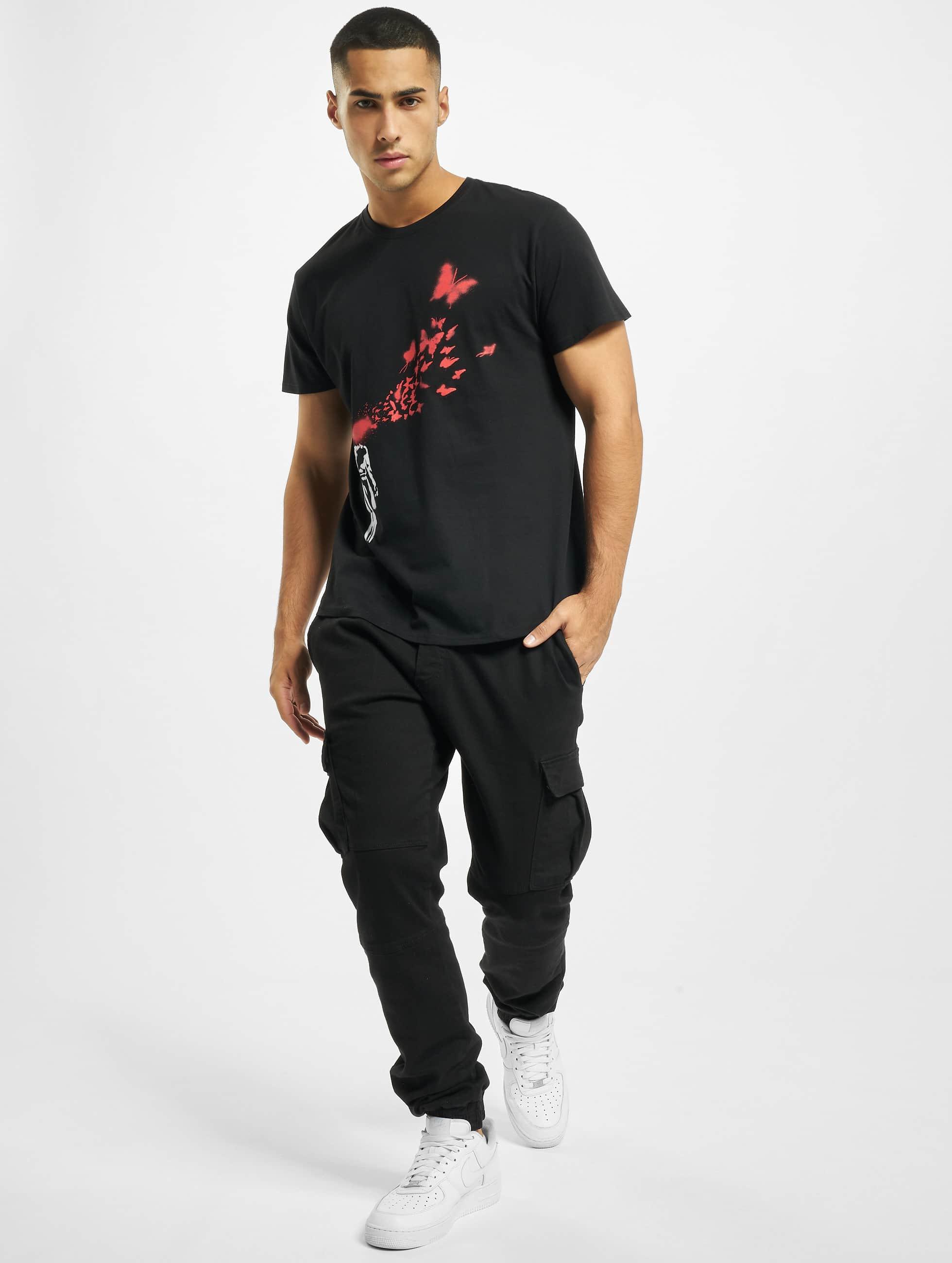 Merchcode T-Shirt Banksy Butterfly black
