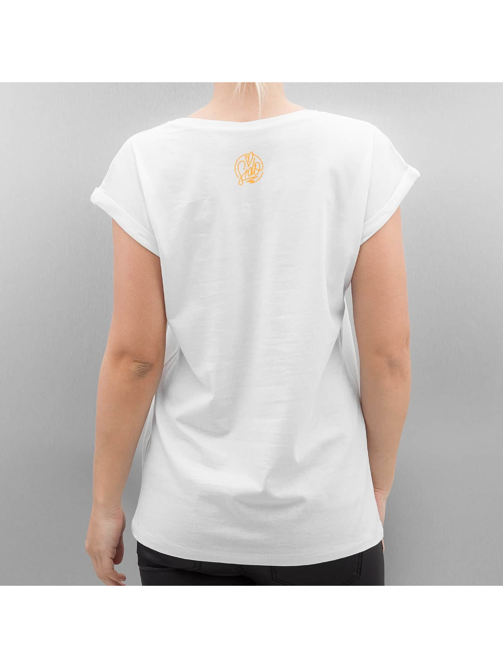 Merchcode T-Shirt Ladies Sido Album Cover white