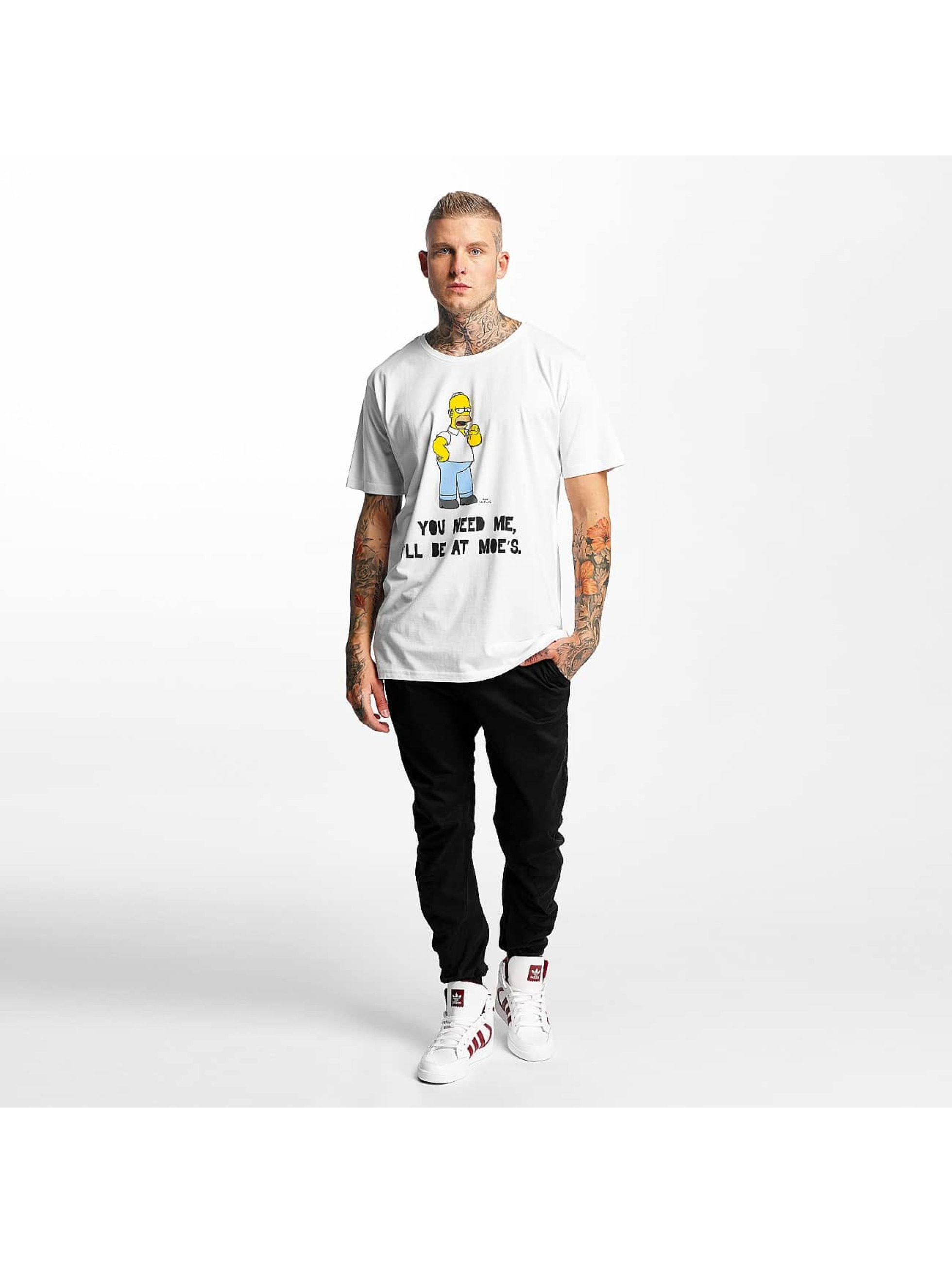 Merchcode T-Shirt Simpsons Moes white