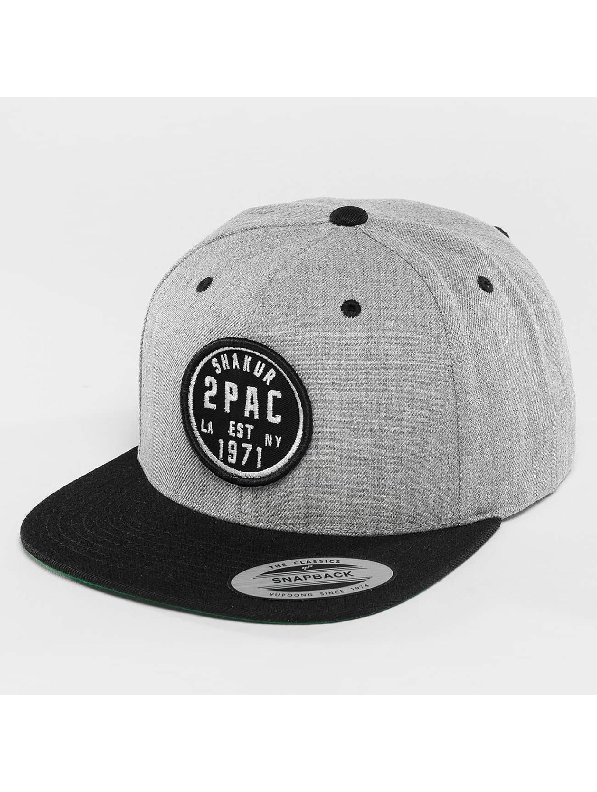 Mister Tee Snapback Cap 2Pac Shakur gray