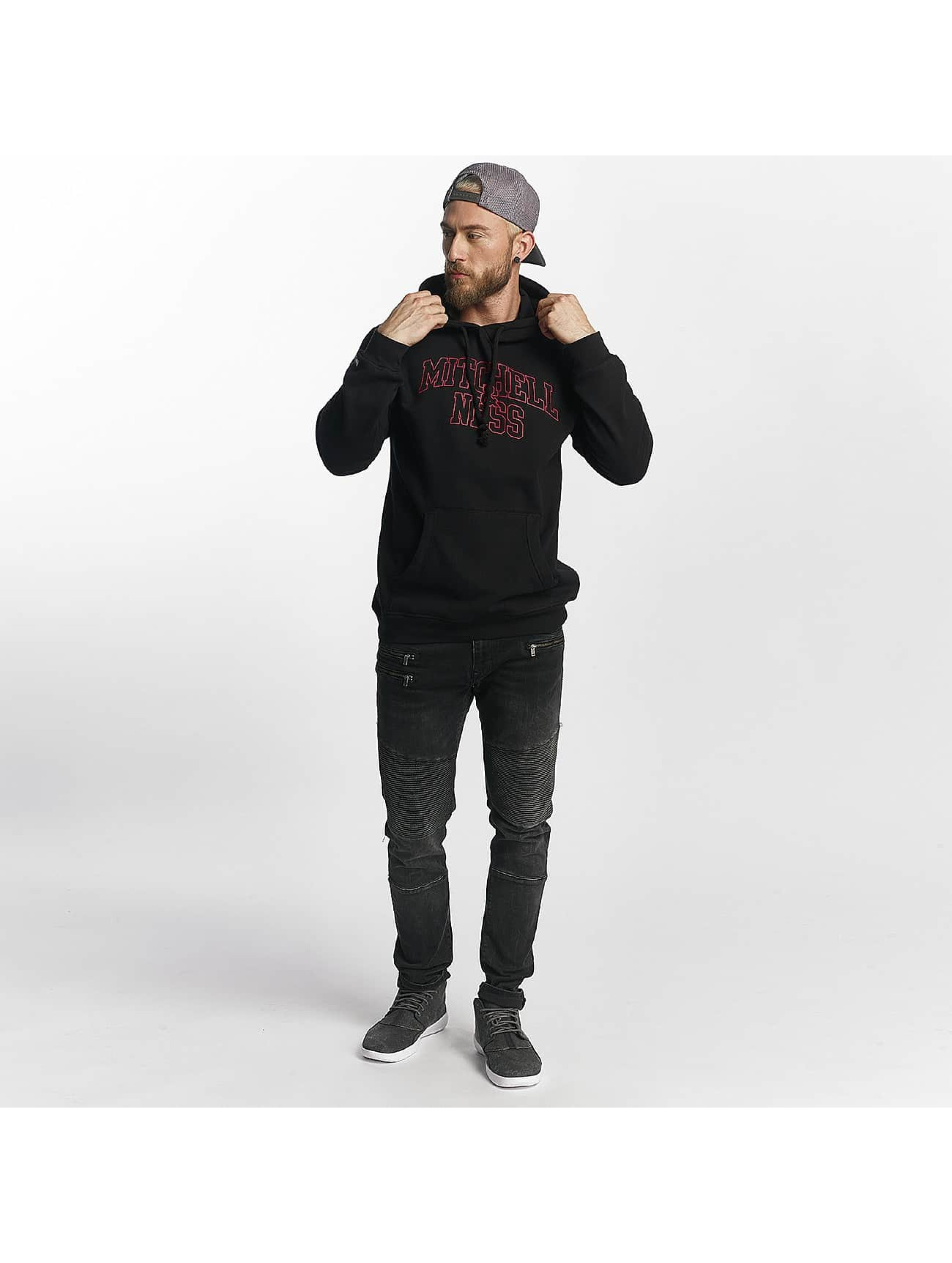 Mitchell & Ness Hoodie Red Pop black