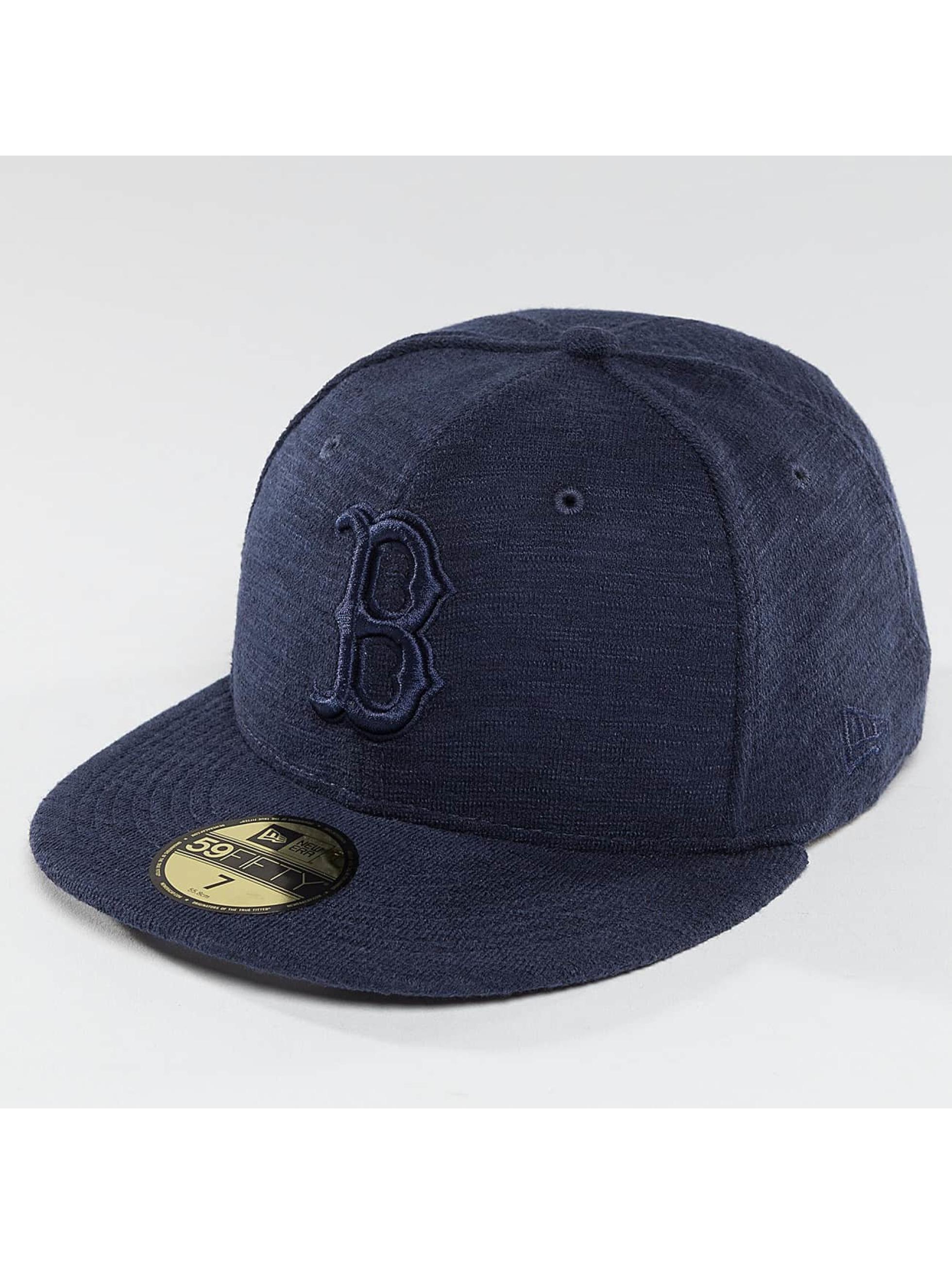 New Era Fitted Cap Slub blue