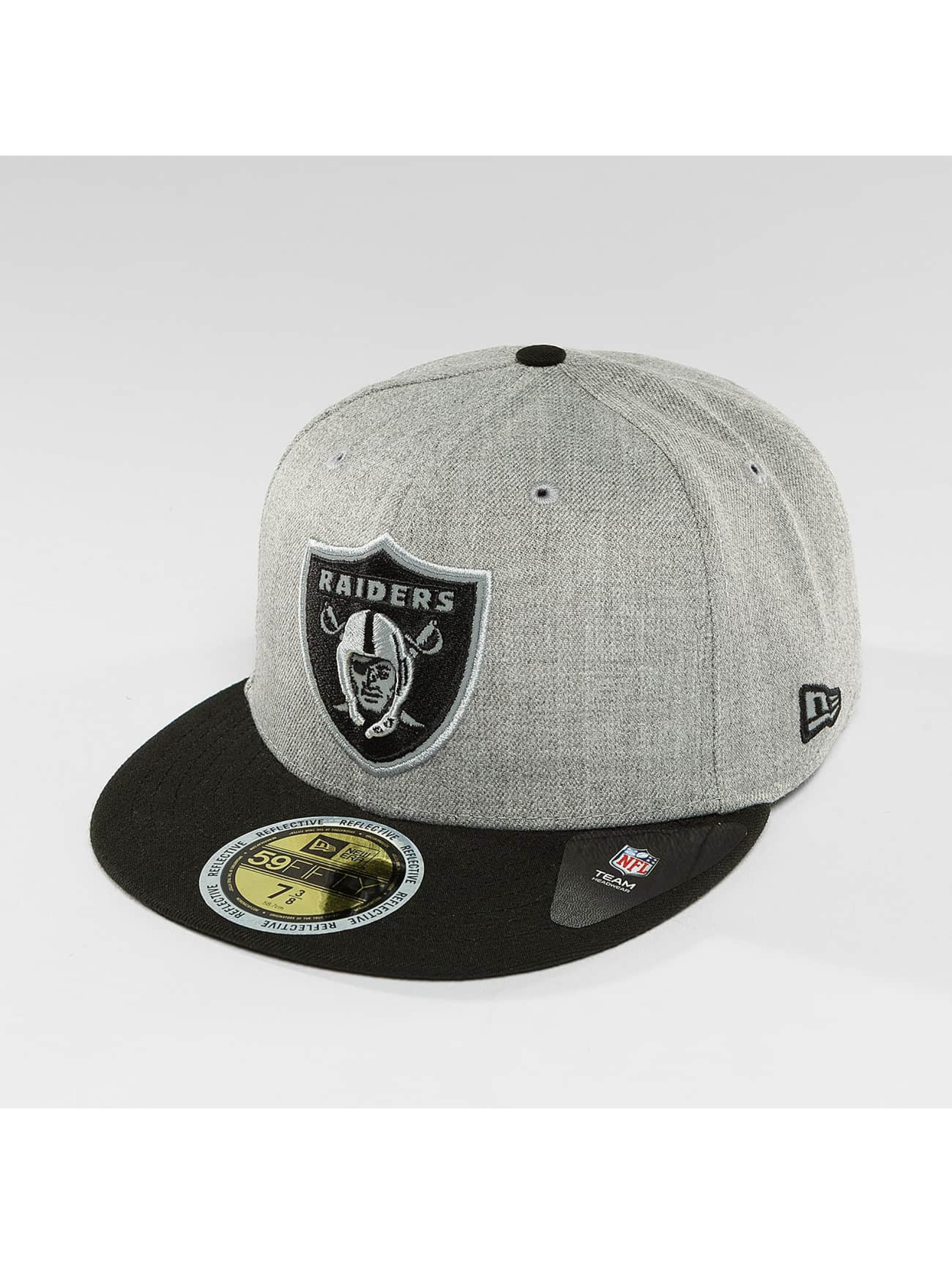 New Era Fitted Cap New Era Reflective Heather Oakland Raiders 59Fifty gray