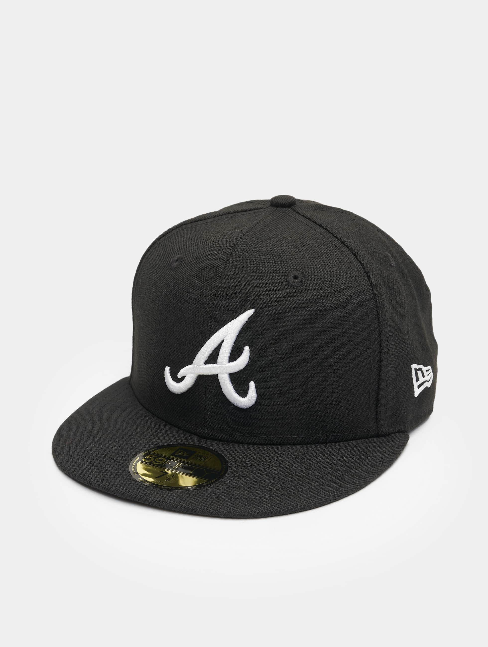 new era fitted cap mlb basic atlanta 59fifty in schwarz 34766. Black Bedroom Furniture Sets. Home Design Ideas