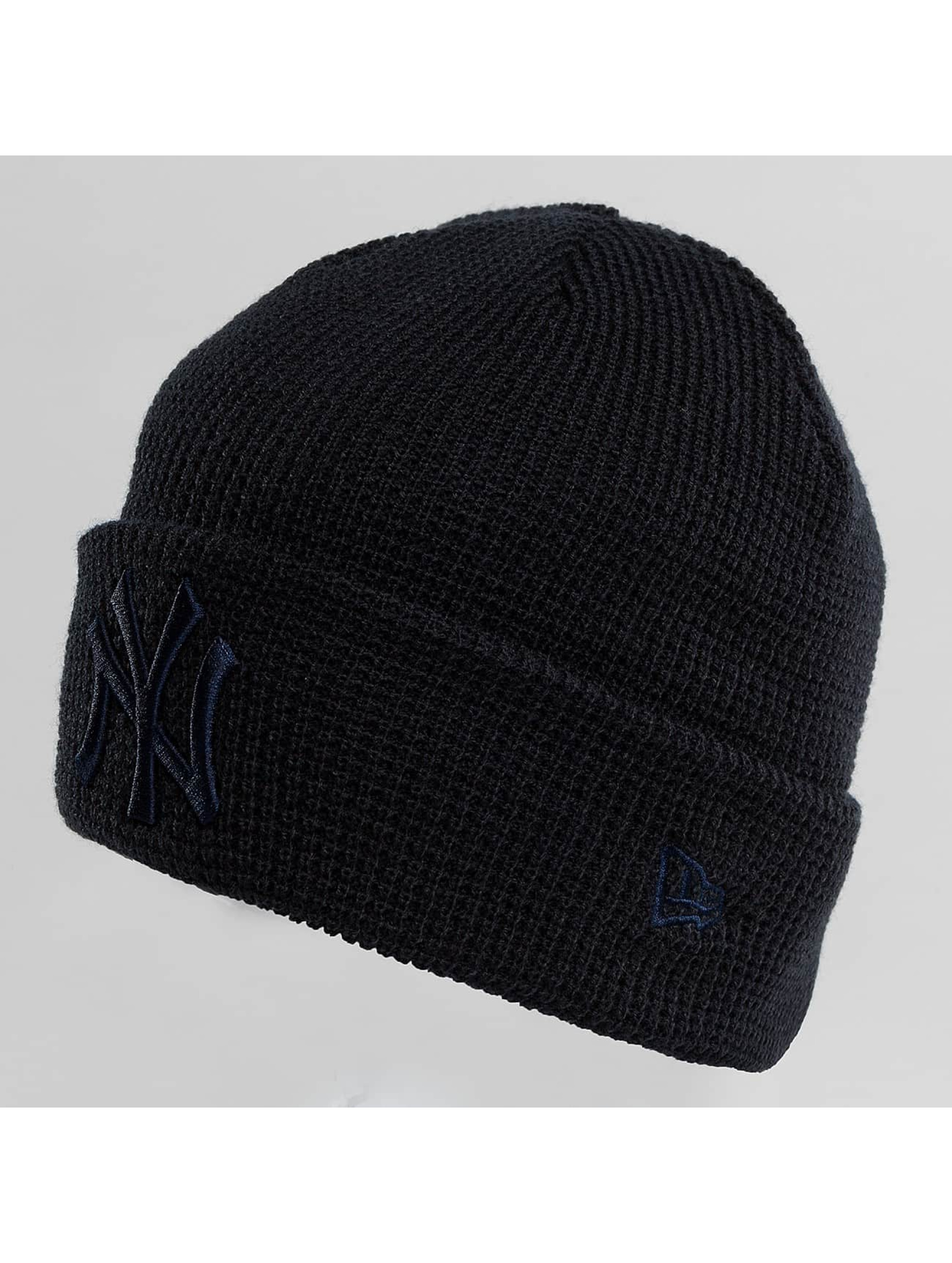 New Era Hat-1 New Era Essential Waffle Knit NY Yankees Beanie black