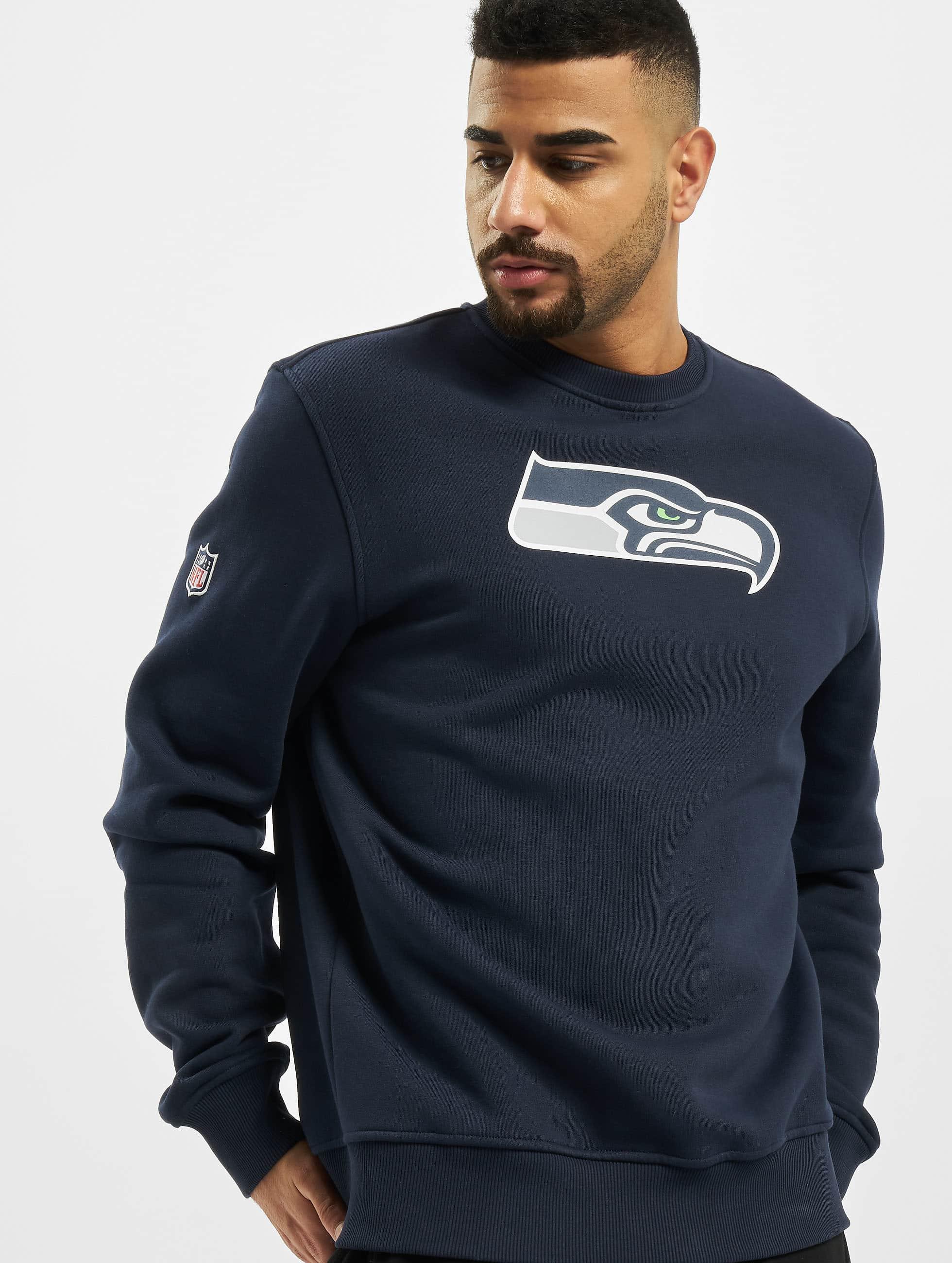 new era herren pullover team logo seattle seahawks in blau. Black Bedroom Furniture Sets. Home Design Ideas
