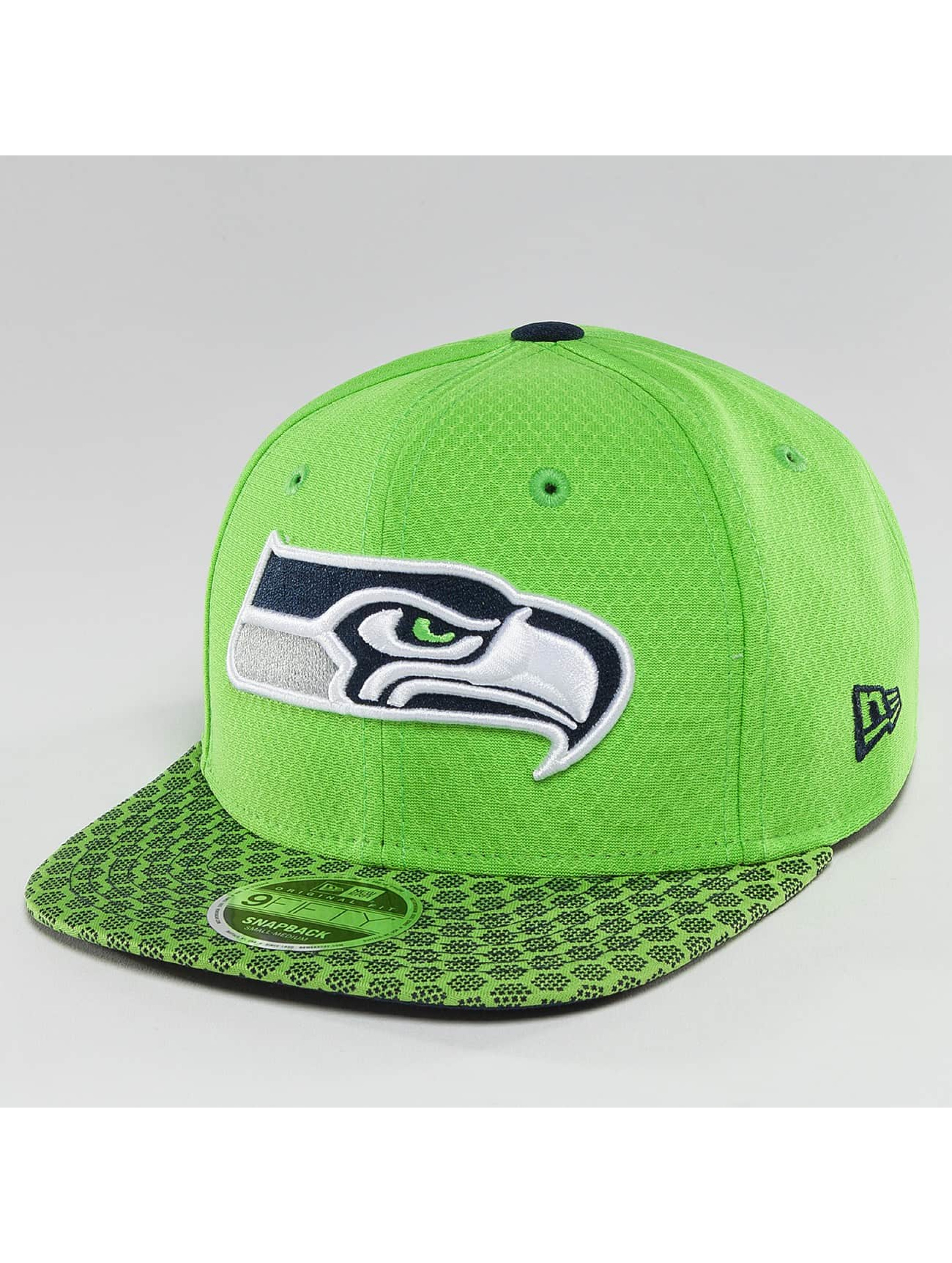 New Era Snapback Cap NFL On Field Seattle Seahawks 9Fifty green