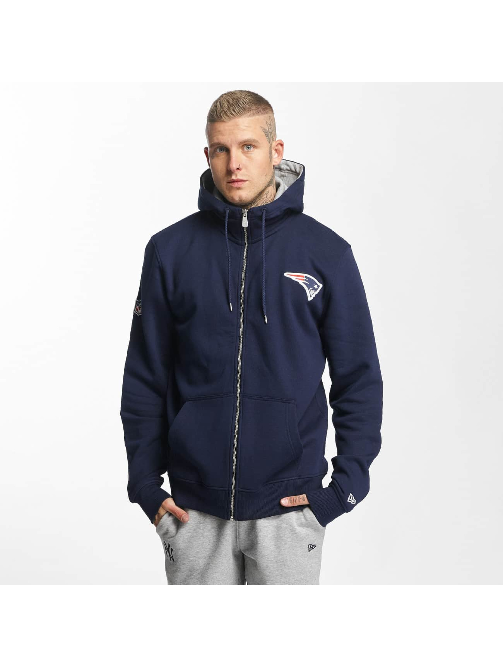 New Era Zip Hoodie New England Patriots blue