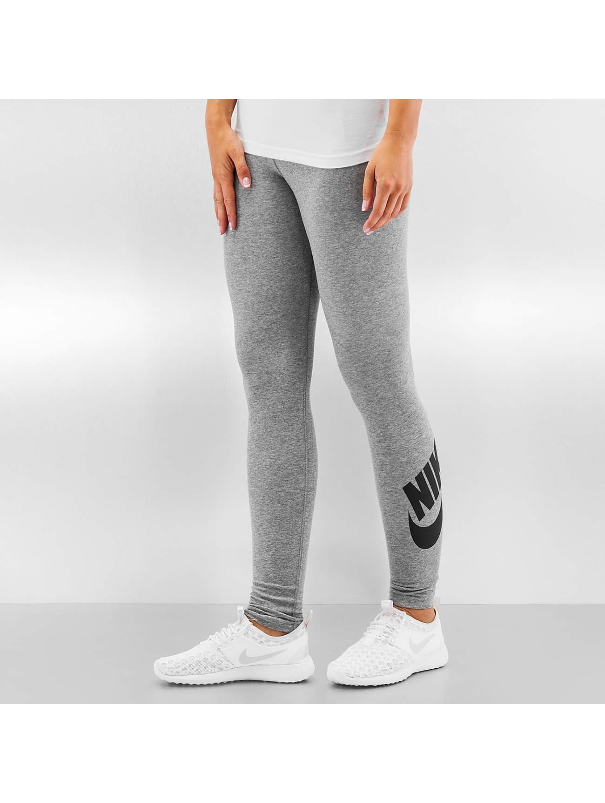 nike leg a see logo gris femme legging nike acheter pas cher pantalon 257290. Black Bedroom Furniture Sets. Home Design Ideas