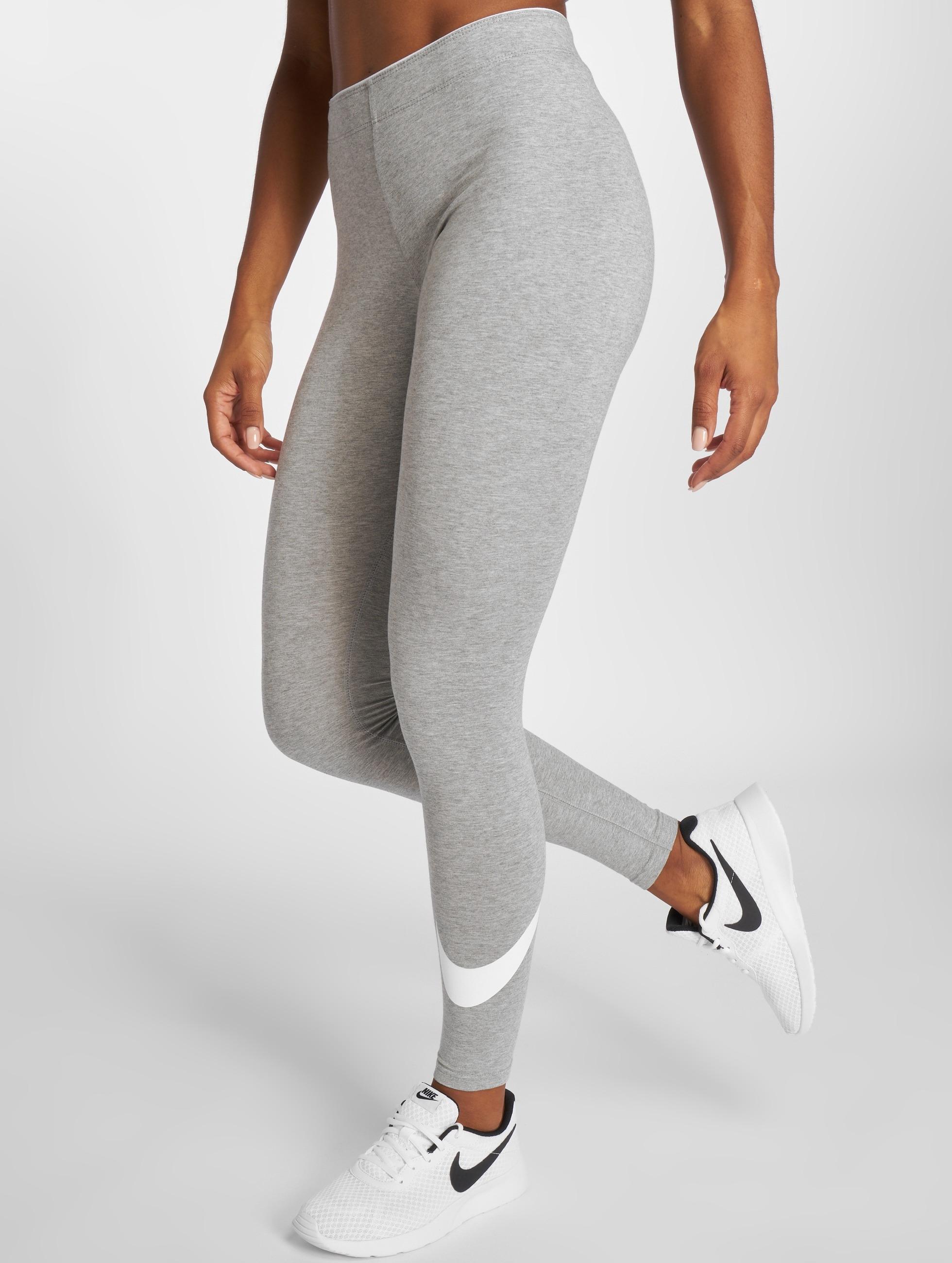nike pantalon leggings club logo 2 en gris 217234. Black Bedroom Furniture Sets. Home Design Ideas