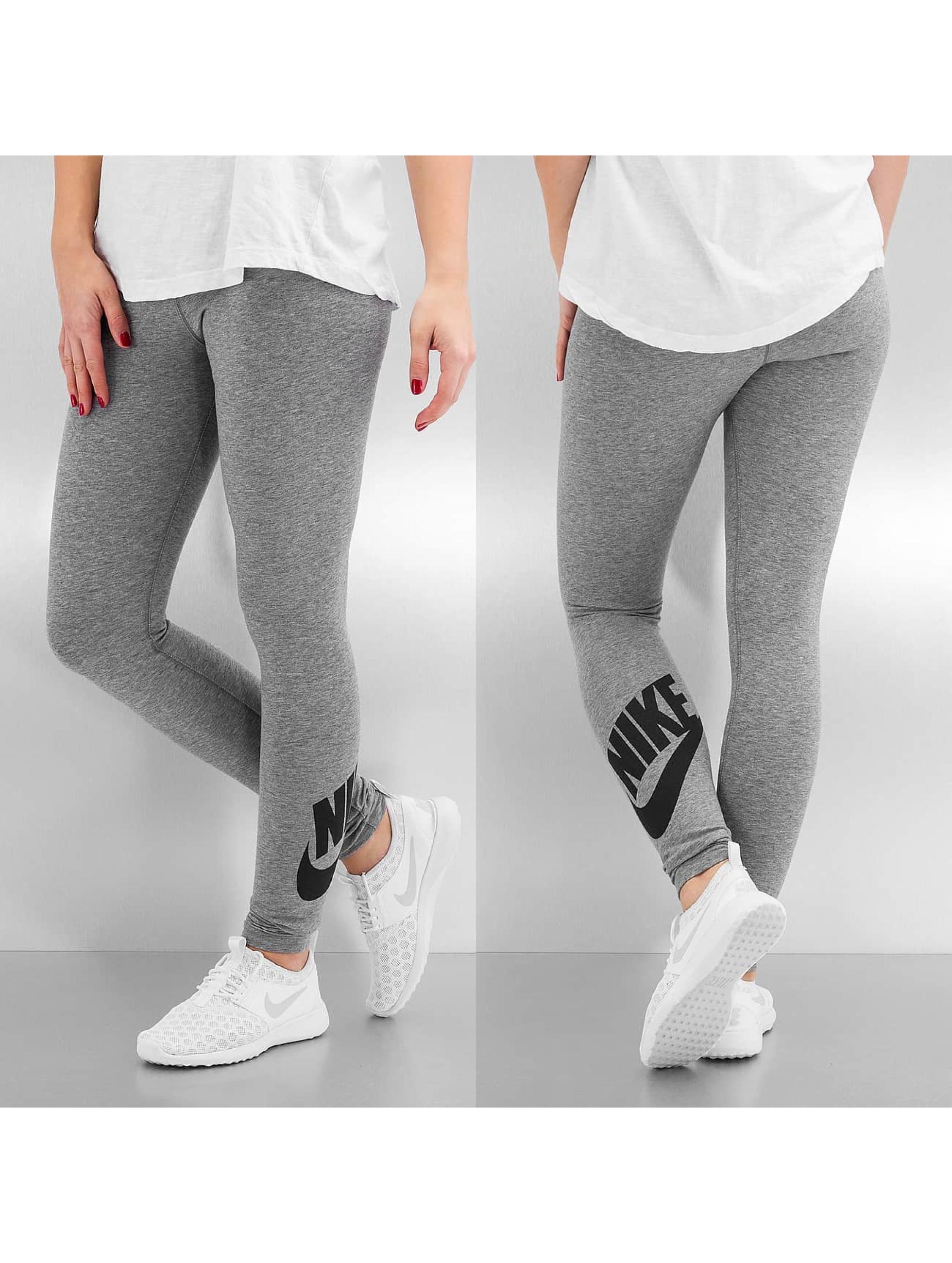 nike leg a see logo gris leggings pantalon 217650. Black Bedroom Furniture Sets. Home Design Ideas