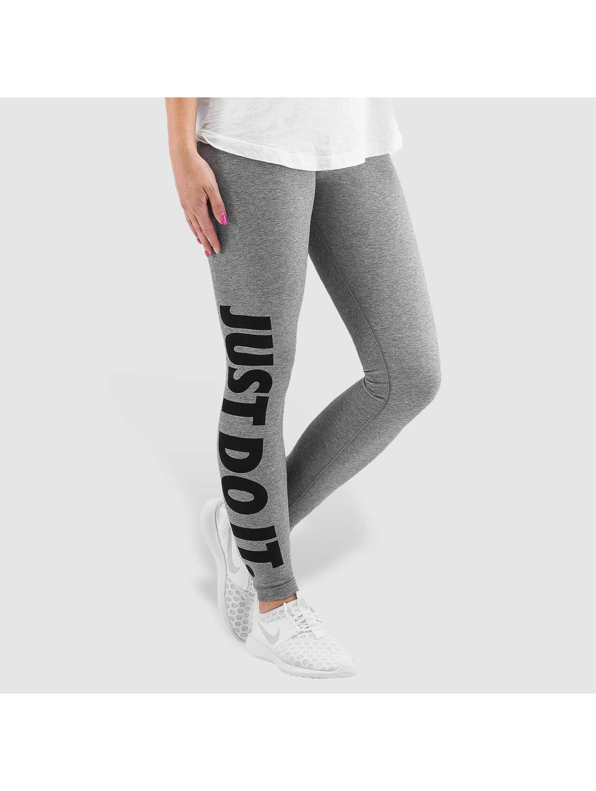 nike pantalon leggings leg a see just do it en gris 239522. Black Bedroom Furniture Sets. Home Design Ideas