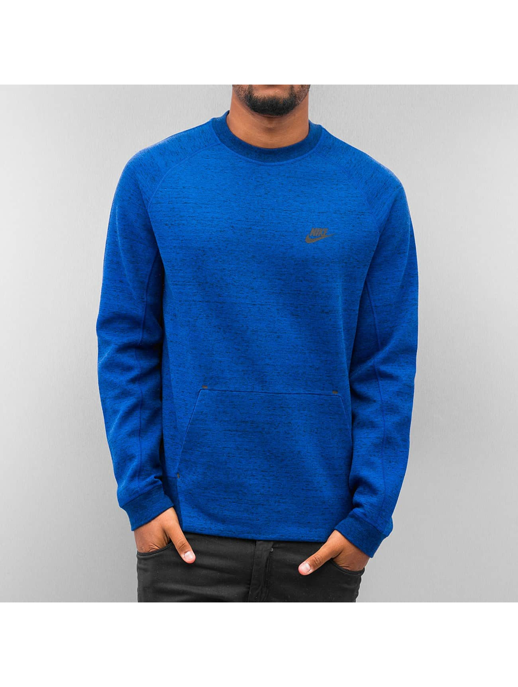 nike oberteil pullover tech fleece in blau 197467. Black Bedroom Furniture Sets. Home Design Ideas