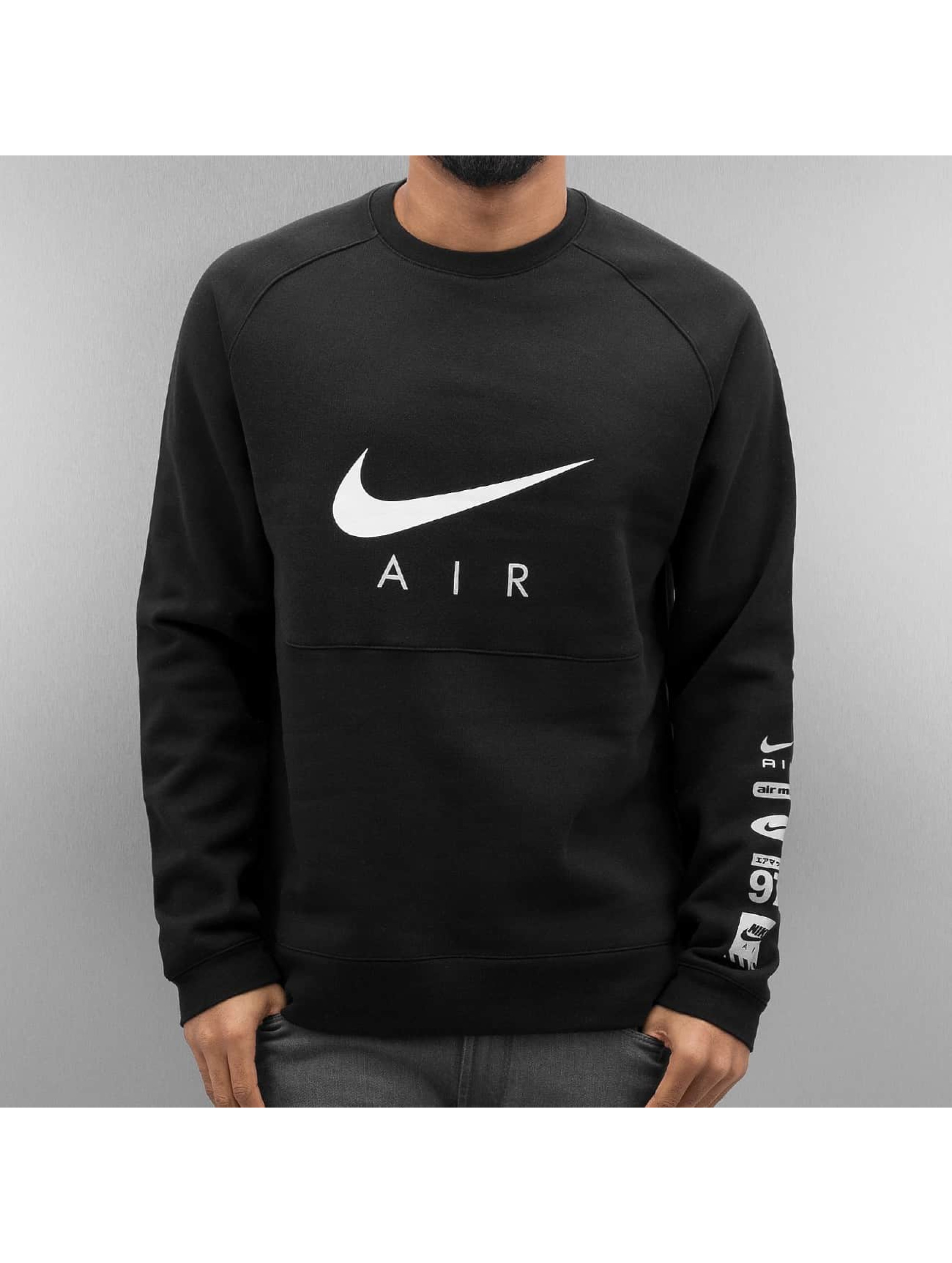 nike pullover nsw bb air hyb in schwarz 295834. Black Bedroom Furniture Sets. Home Design Ideas