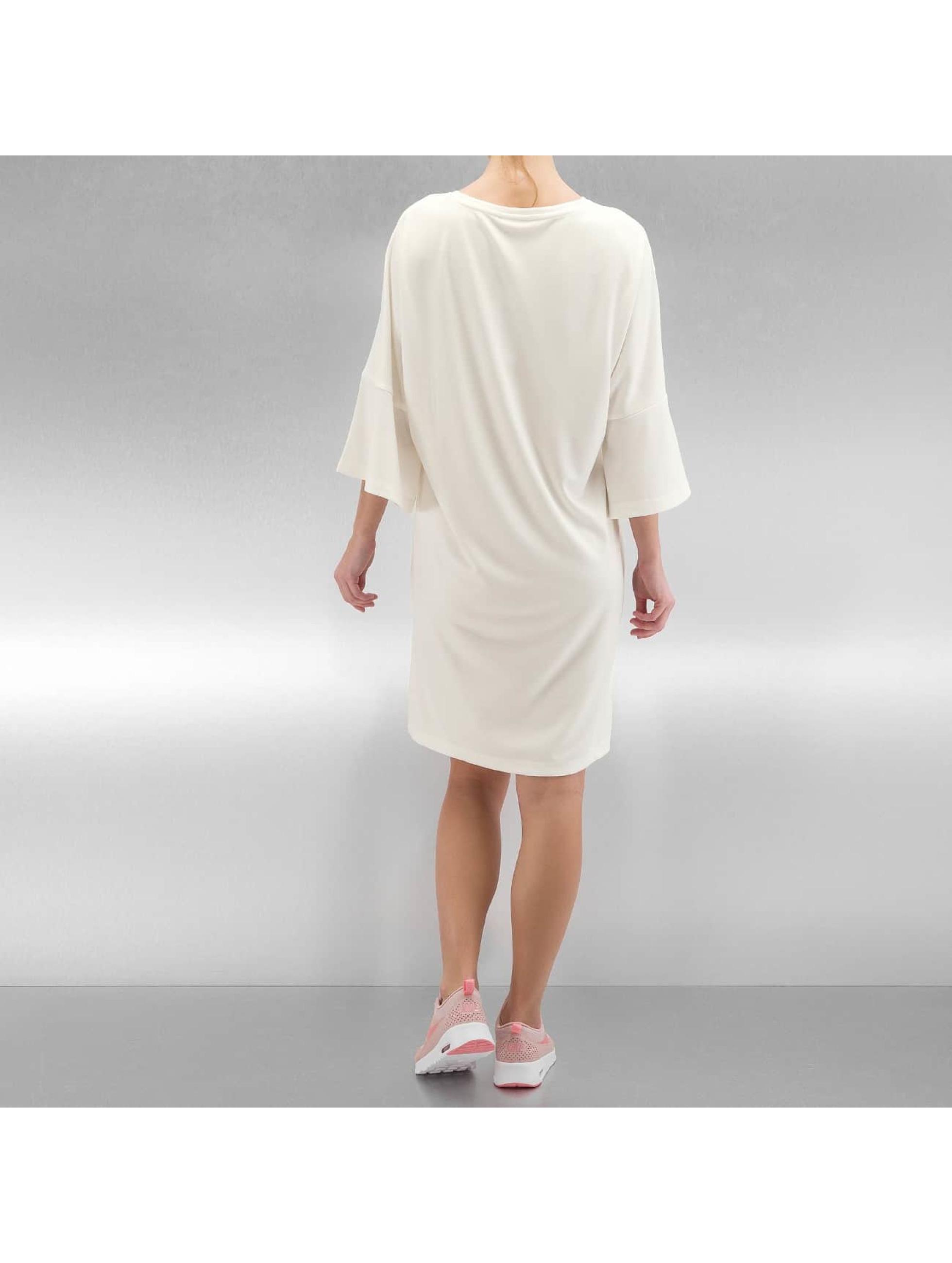 Noisy May Dress nmCharlotte 3/4 Long Flounce white