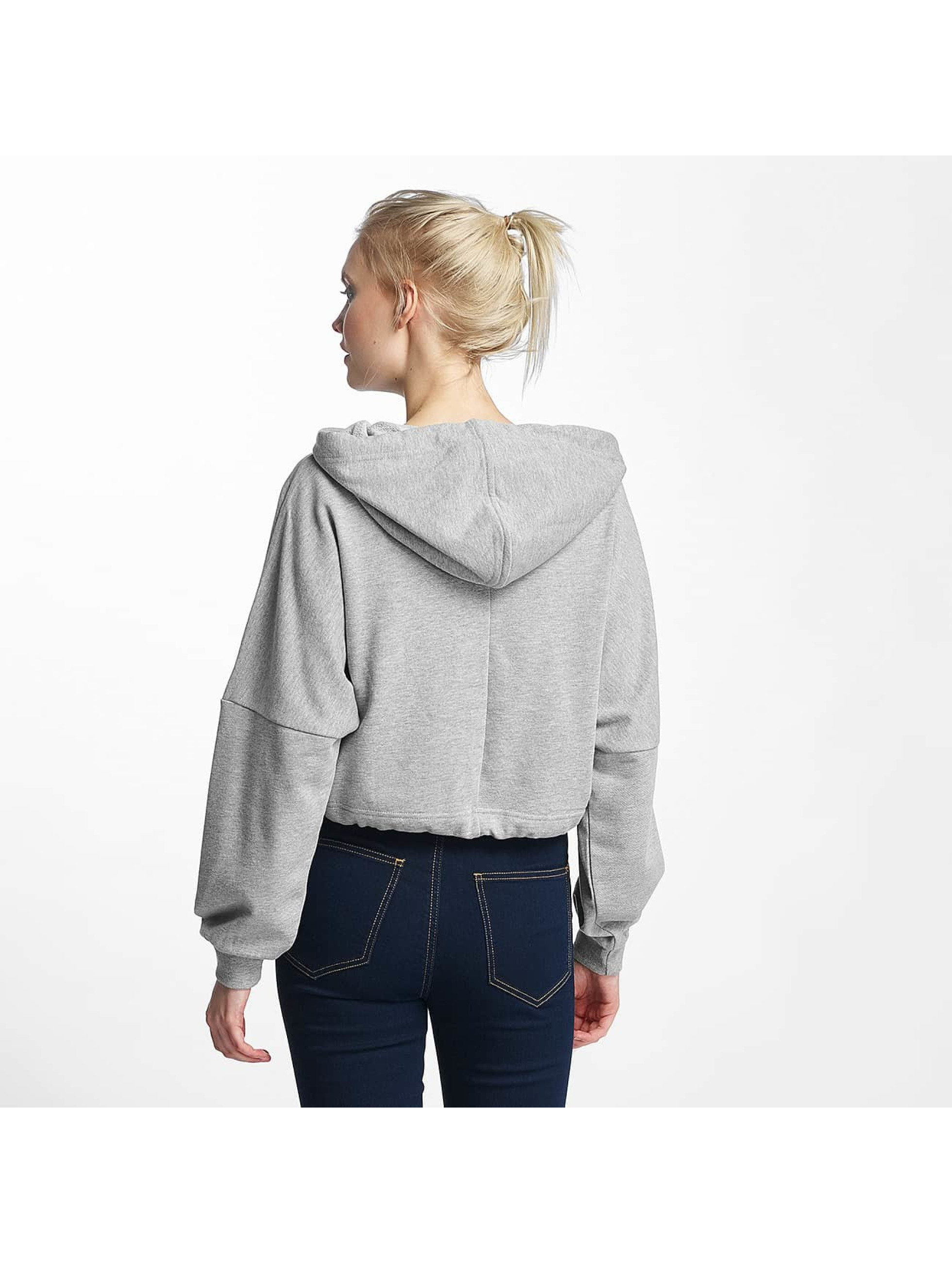 Noisy May Hoodie nmChristian Crop gray