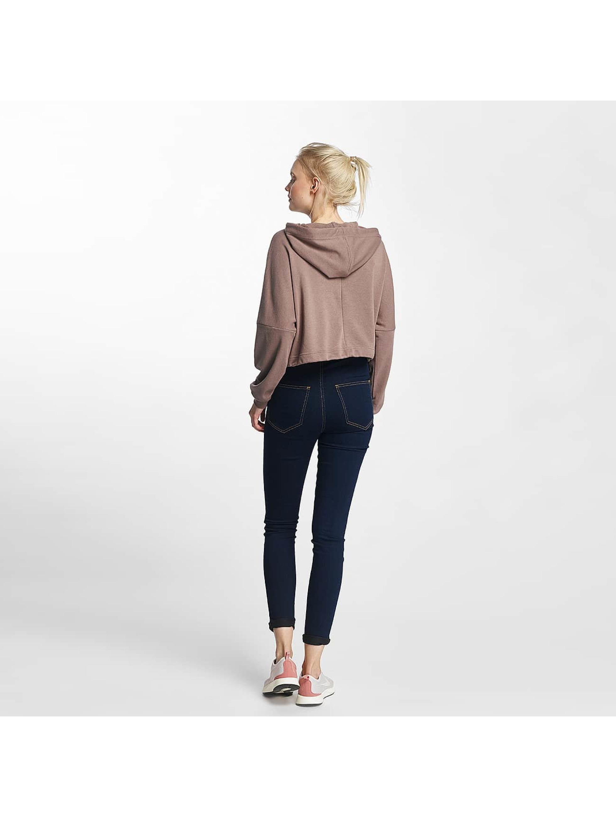 Noisy May Hoodie nmChristian Crop rose